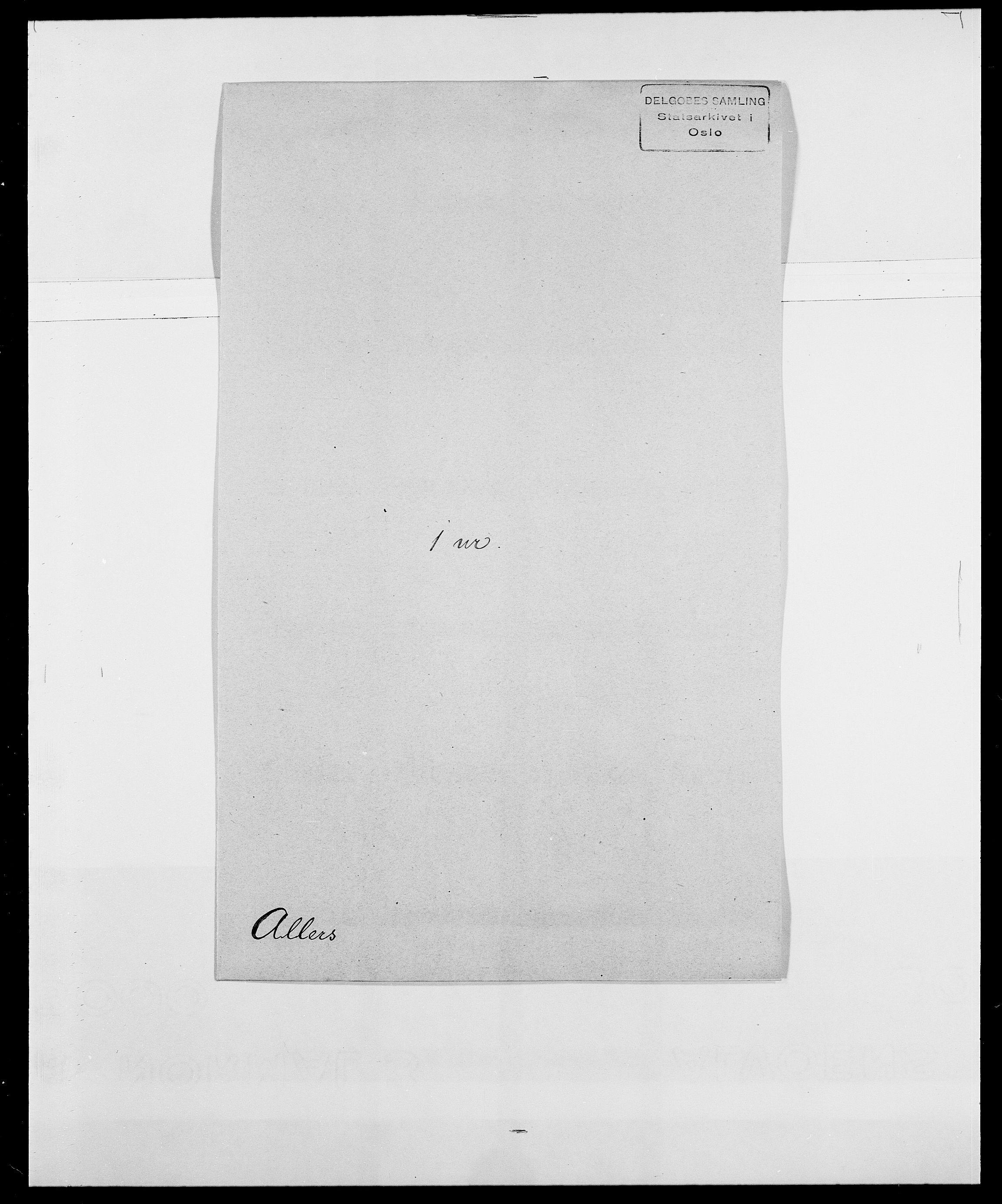 SAO, Delgobe, Charles Antoine - samling, D/Da/L0001: Aabye - Angerman, s. 419