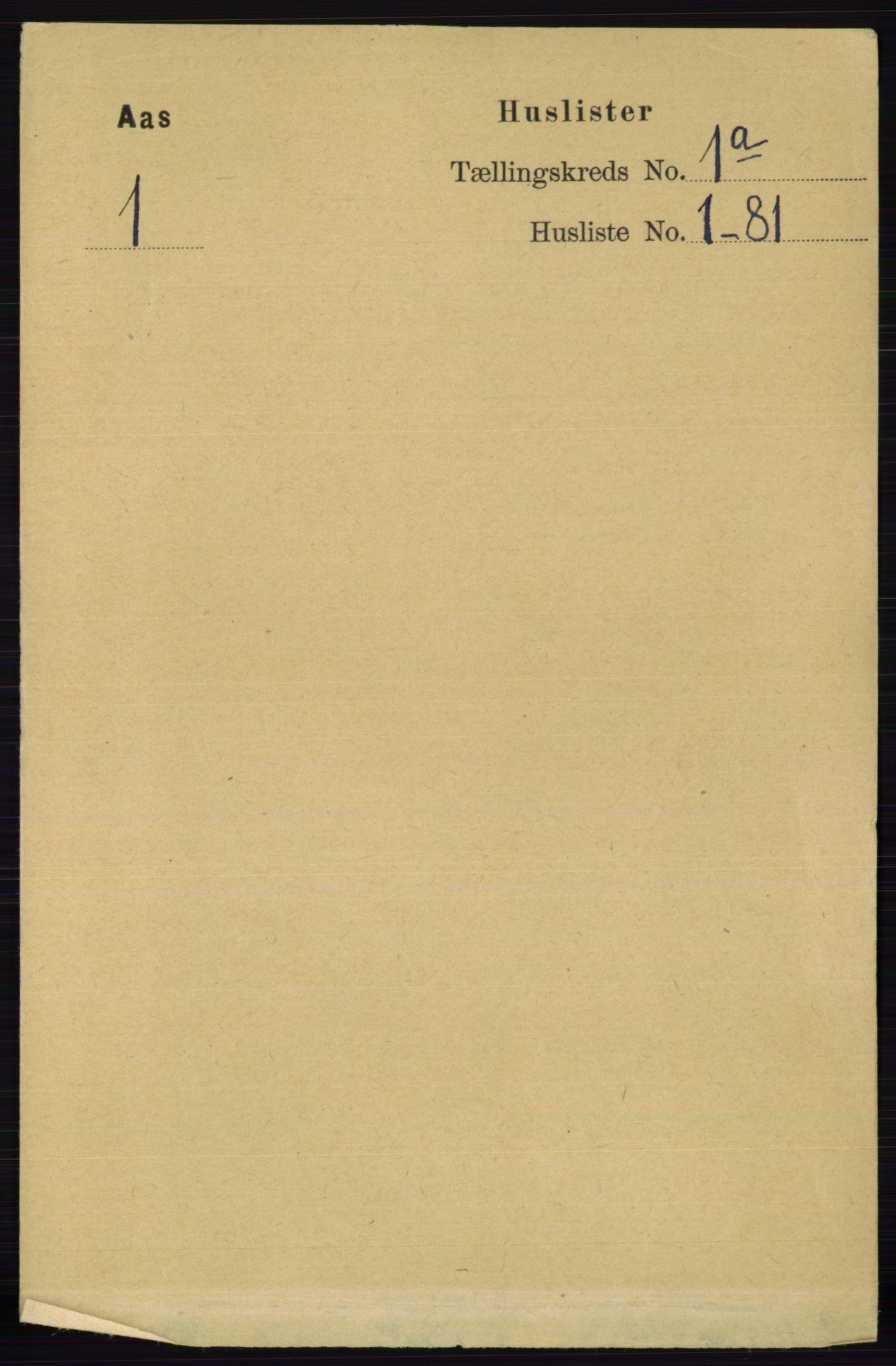 RA, Folketelling 1891 for 0214 Ås herred, 1891, s. 22