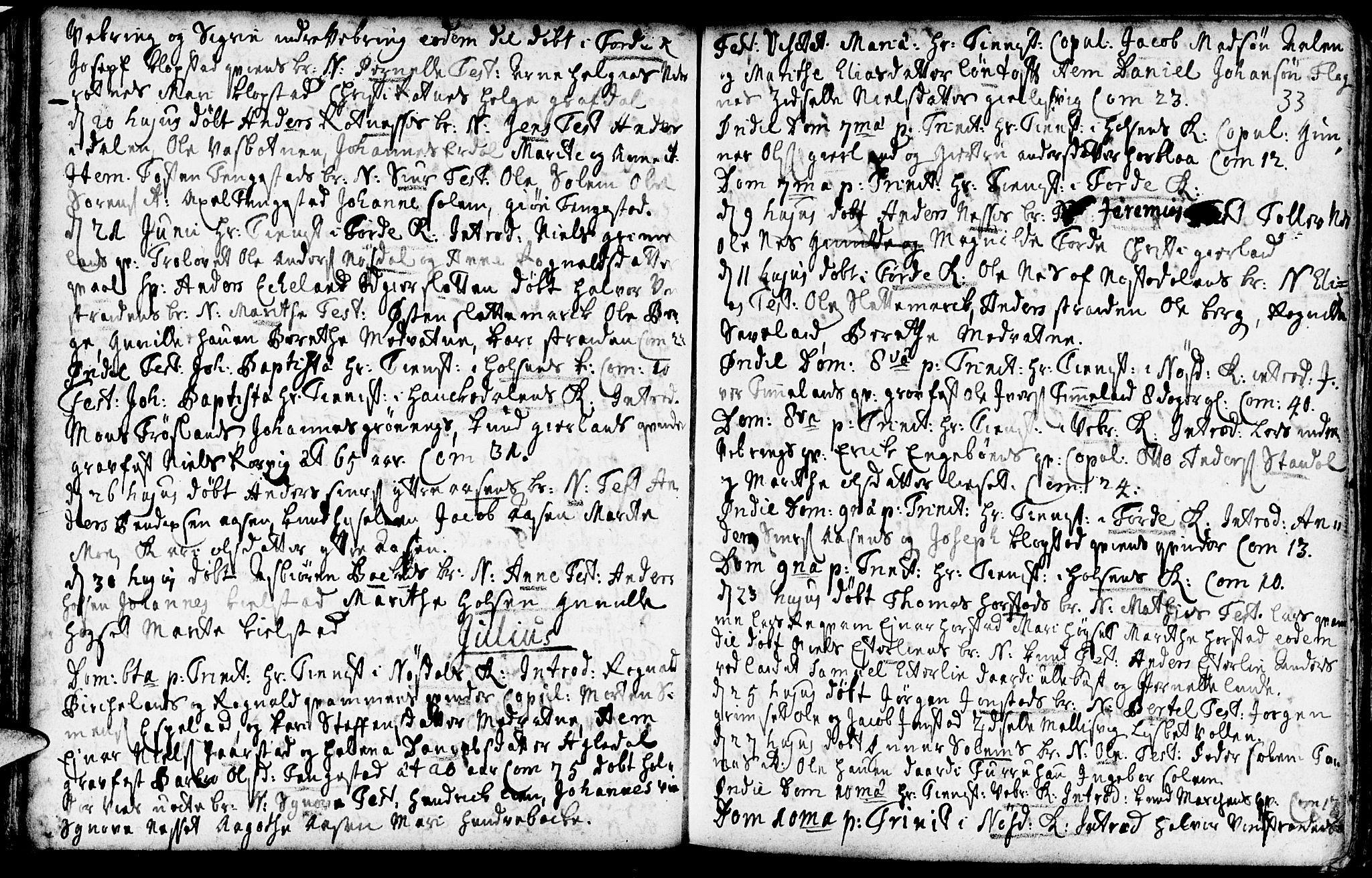 SAB, Førde Sokneprestembete, H/Haa: Ministerialbok nr. A 2, 1728-1748, s. 33