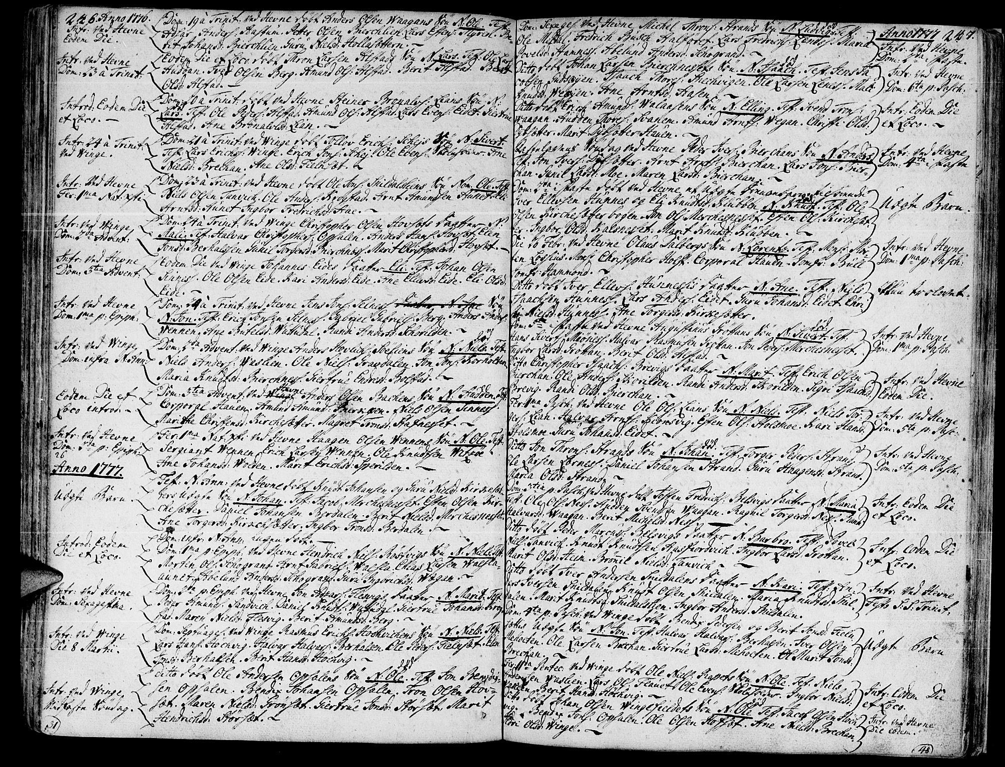 SAT, Ministerialprotokoller, klokkerbøker og fødselsregistre - Sør-Trøndelag, 630/L0489: Ministerialbok nr. 630A02, 1757-1794, s. 246-247