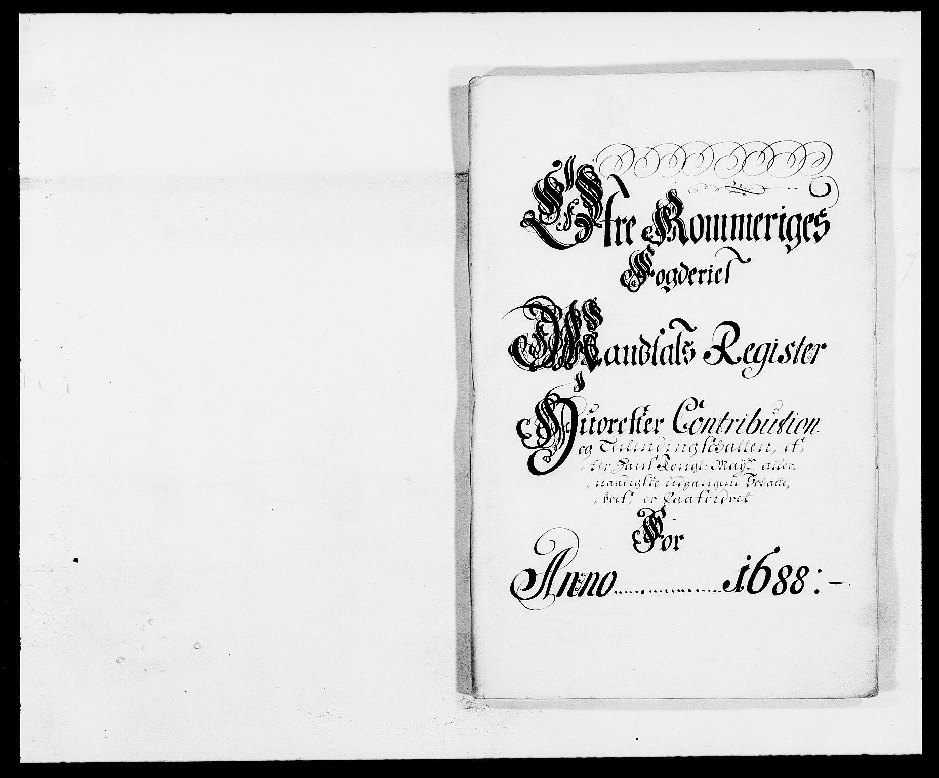 RA, Rentekammeret inntil 1814, Reviderte regnskaper, Fogderegnskap, R12/L0700: Fogderegnskap Øvre Romerike, 1687-1688, s. 320