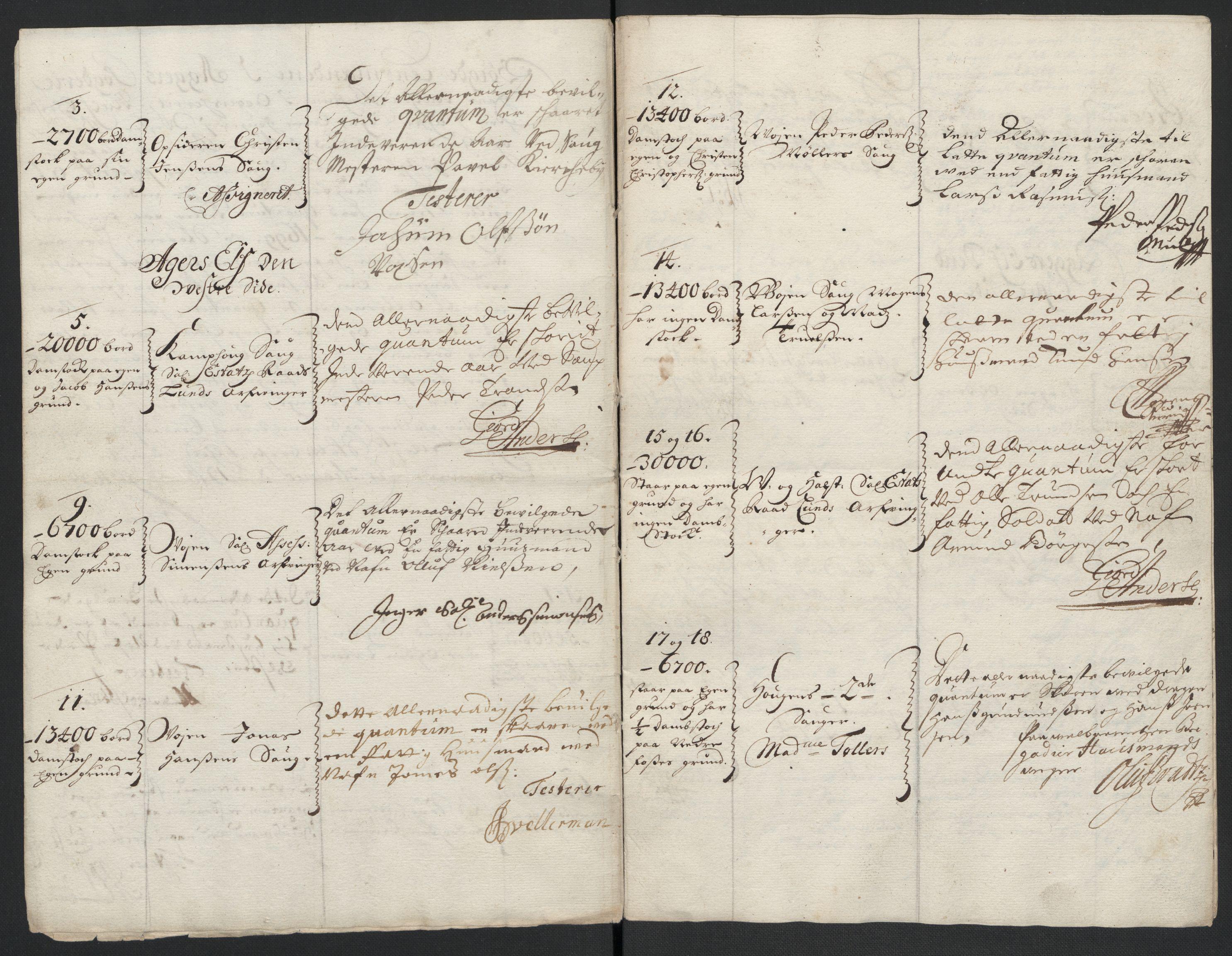 RA, Rentekammeret inntil 1814, Reviderte regnskaper, Fogderegnskap, R10/L0442: Fogderegnskap Aker og Follo, 1699, s. 205