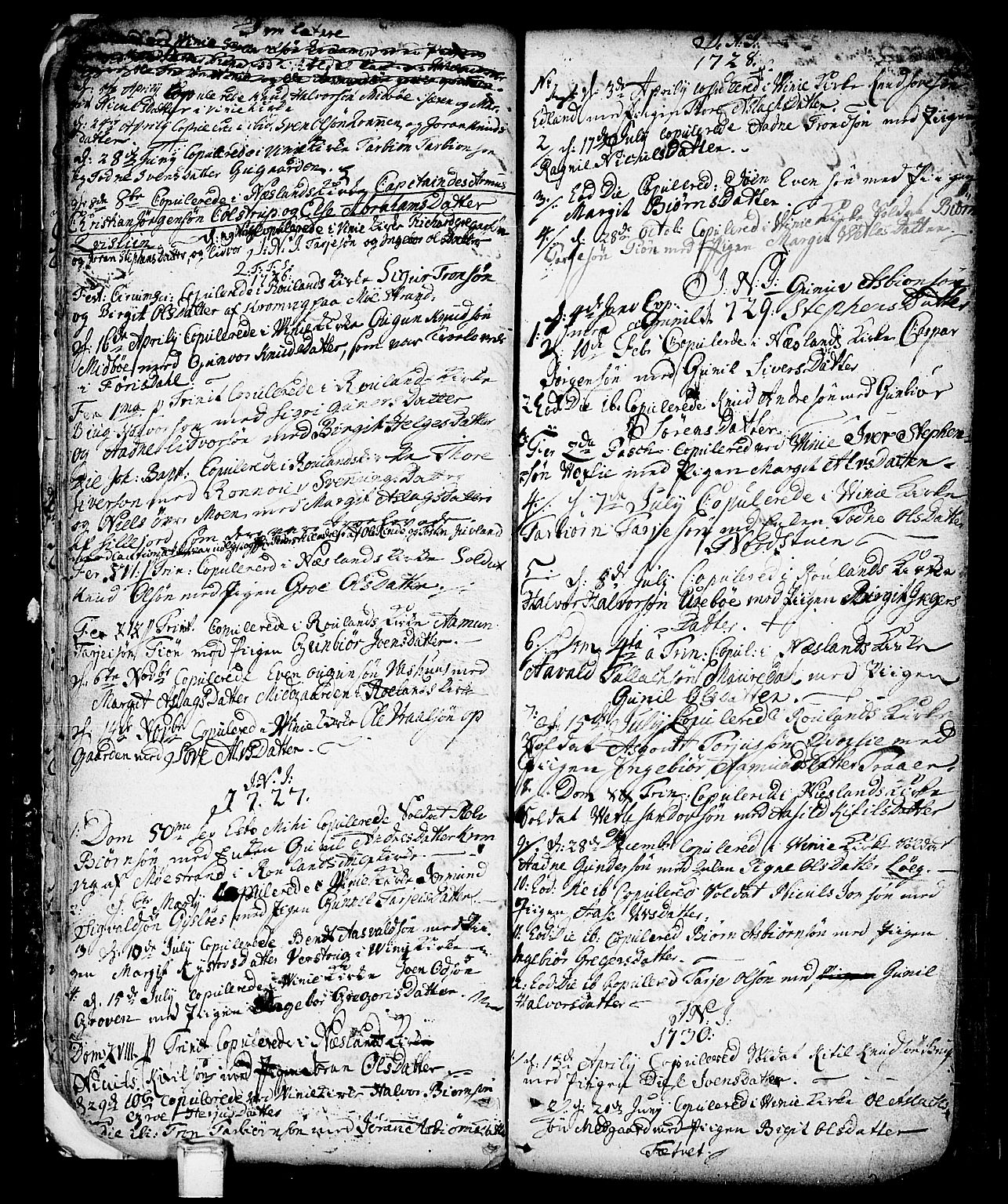 SAKO, Vinje kirkebøker, F/Fa/L0001: Ministerialbok nr. I 1, 1717-1766, s. 32