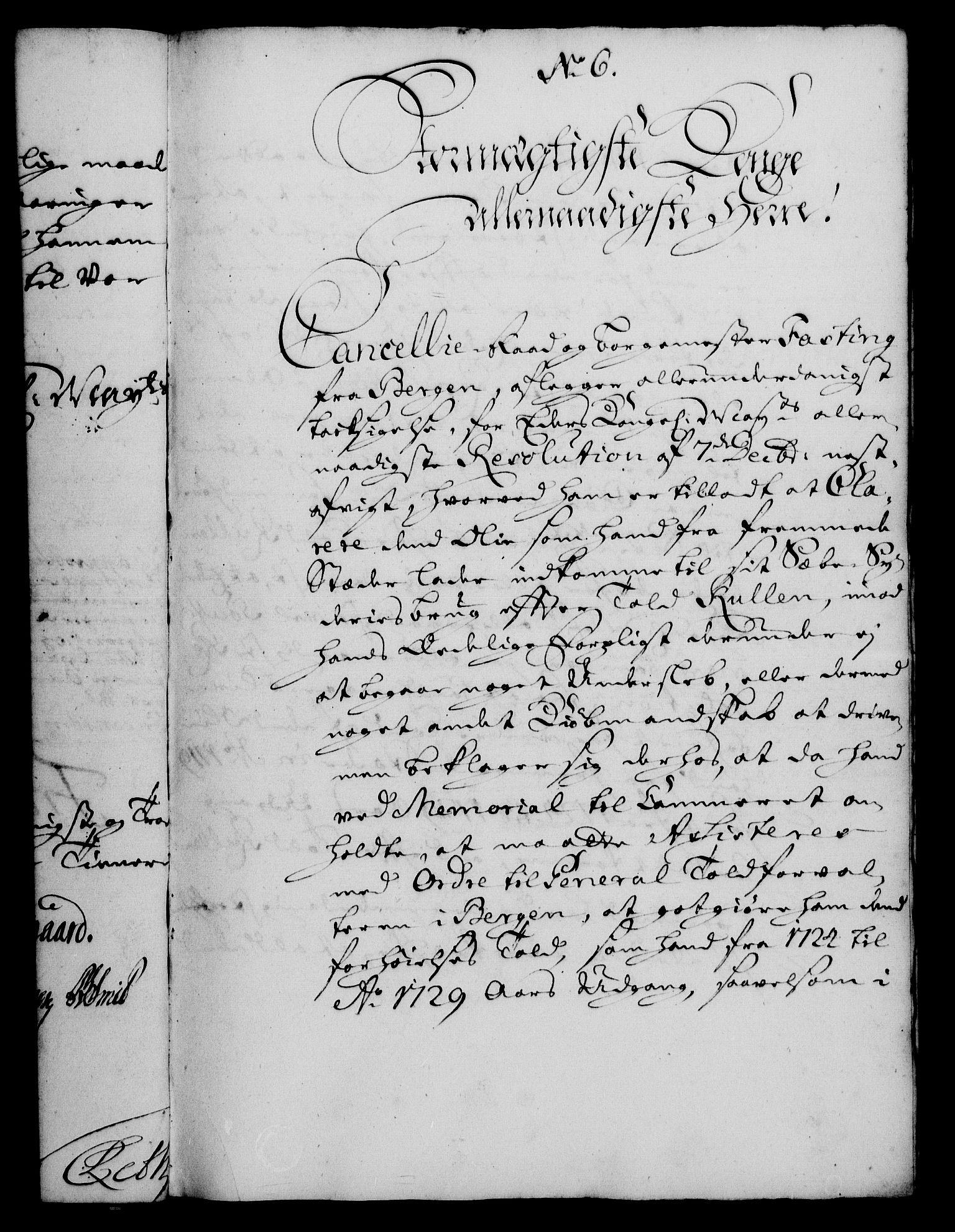RA, Rentekammeret, Kammerkanselliet, G/Gf/Gfa/L0013: Norsk relasjons- og resolusjonsprotokoll (merket RK 52.13), 1730, s. 57