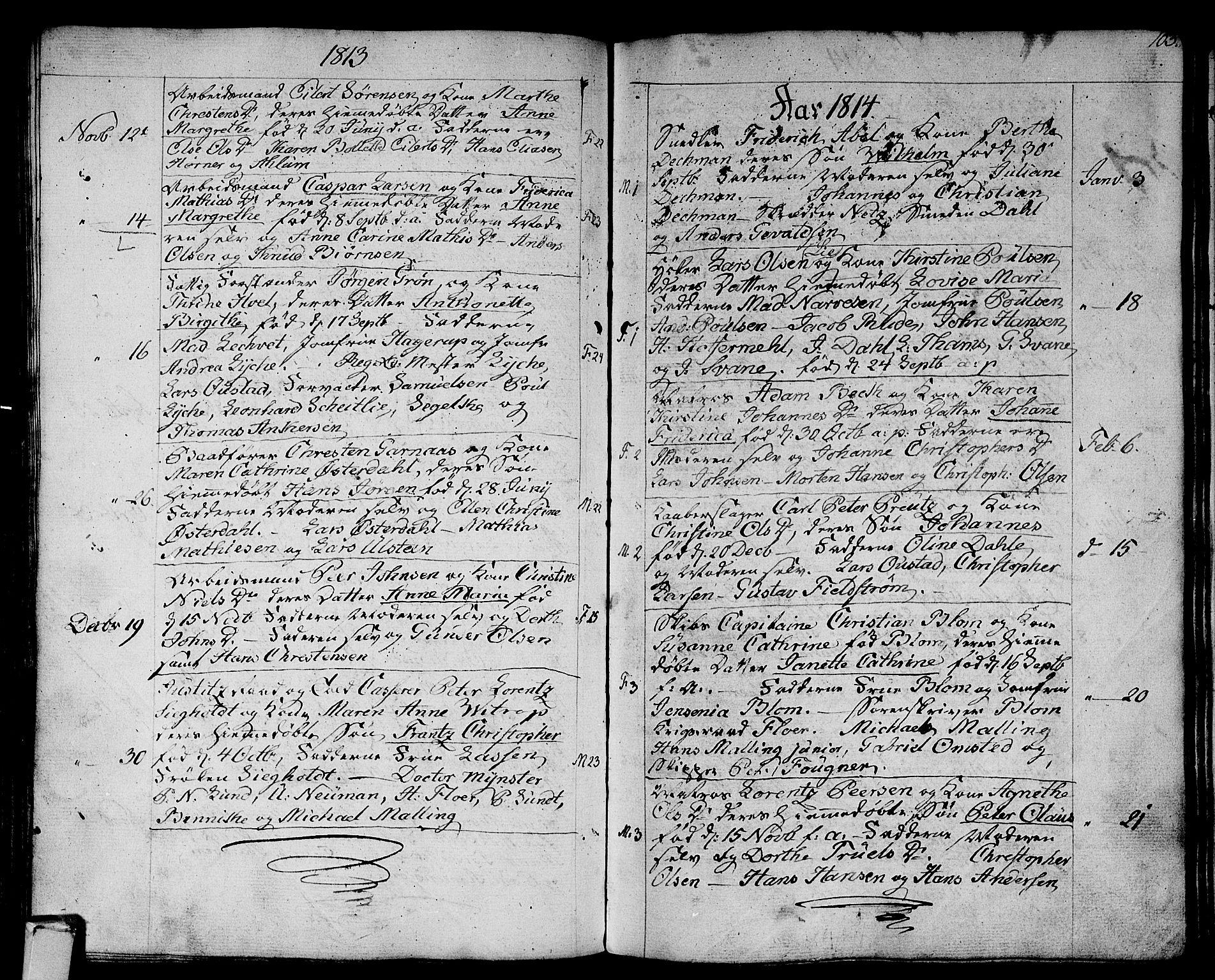 SAKO, Strømsø kirkebøker, F/Fa/L0010: Ministerialbok nr. I 10, 1792-1822, s. 103