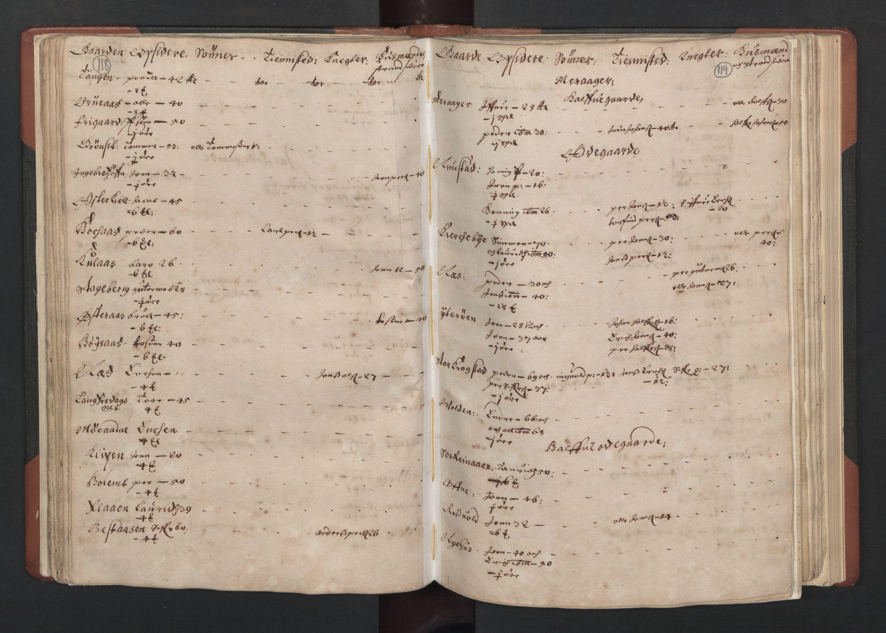 RA, Fogdenes og sorenskrivernes manntall 1664-1666, nr. 19: Fosen fogderi, Inderøy fogderi, Selbu fogderi, Namdal fogderi og Stjørdal fogderi, 1664-1665, s. 118-119