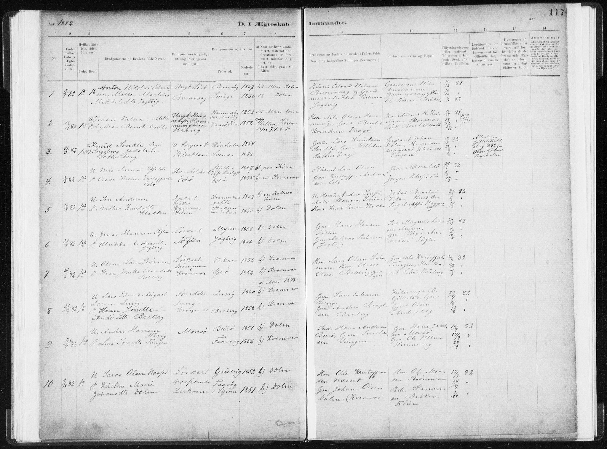 SAT, Ministerialprotokoller, klokkerbøker og fødselsregistre - Sør-Trøndelag, 634/L0533: Ministerialbok nr. 634A09, 1882-1901, s. 117