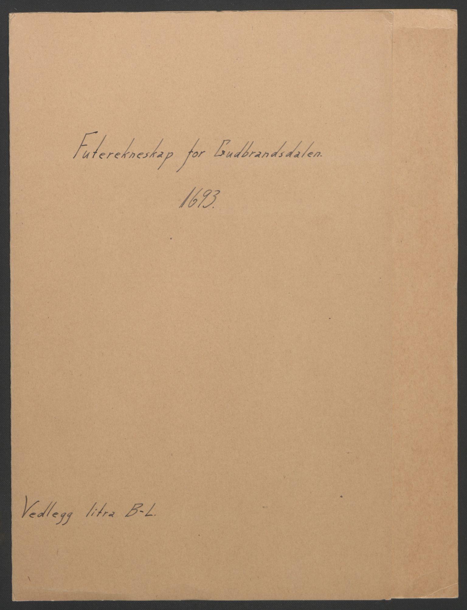 RA, Rentekammeret inntil 1814, Reviderte regnskaper, Fogderegnskap, R17/L1167: Fogderegnskap Gudbrandsdal, 1693, s. 219