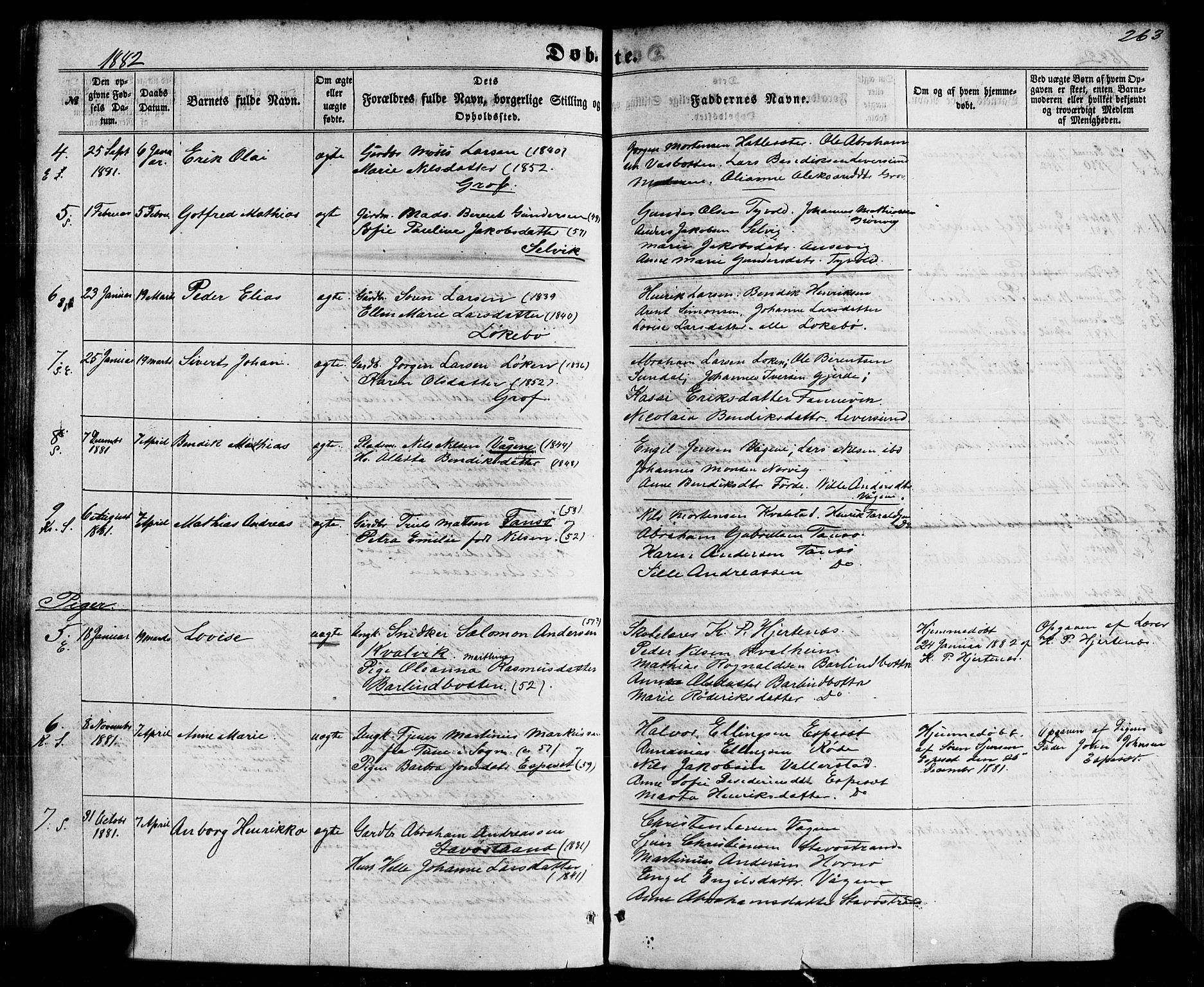 SAB, Kinn Sokneprestembete, Ministerialbok nr. A 6, 1857-1885, s. 263