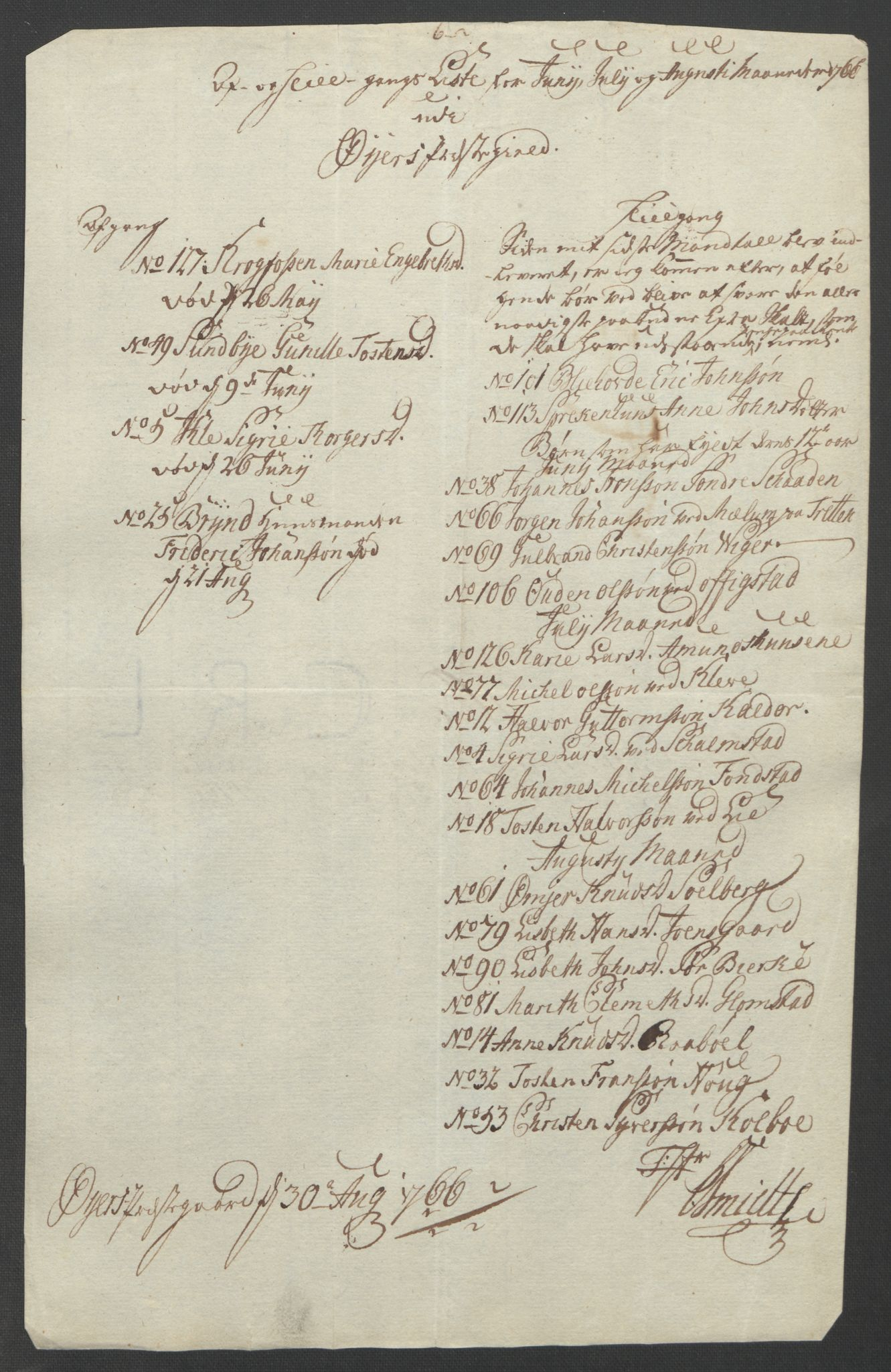 RA, Rentekammeret inntil 1814, Reviderte regnskaper, Fogderegnskap, R17/L1266: Ekstraskatten Gudbrandsdal, 1762-1766, s. 557