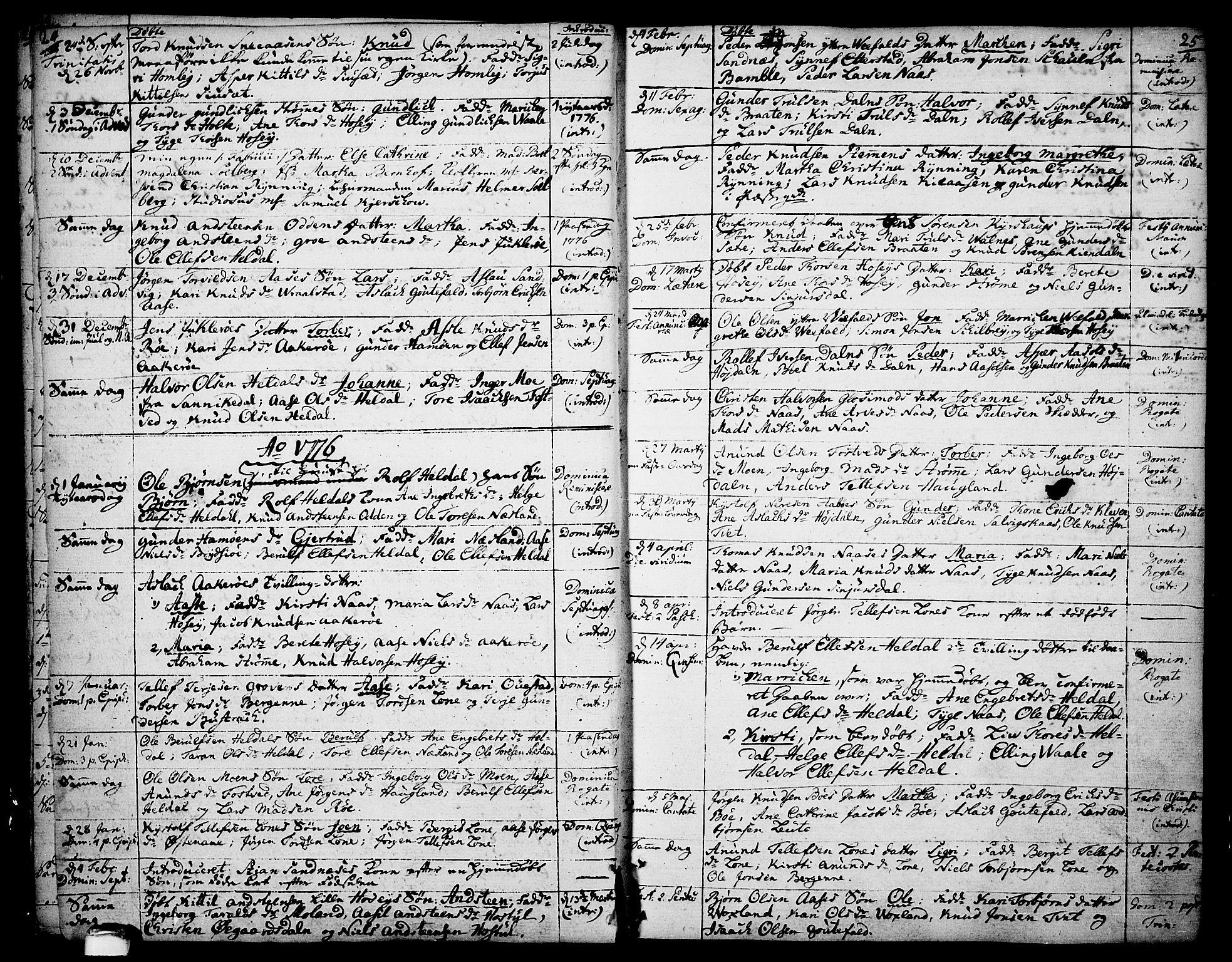 SAKO, Drangedal kirkebøker, F/Fa/L0003: Ministerialbok nr. 3, 1768-1814, s. 24-25