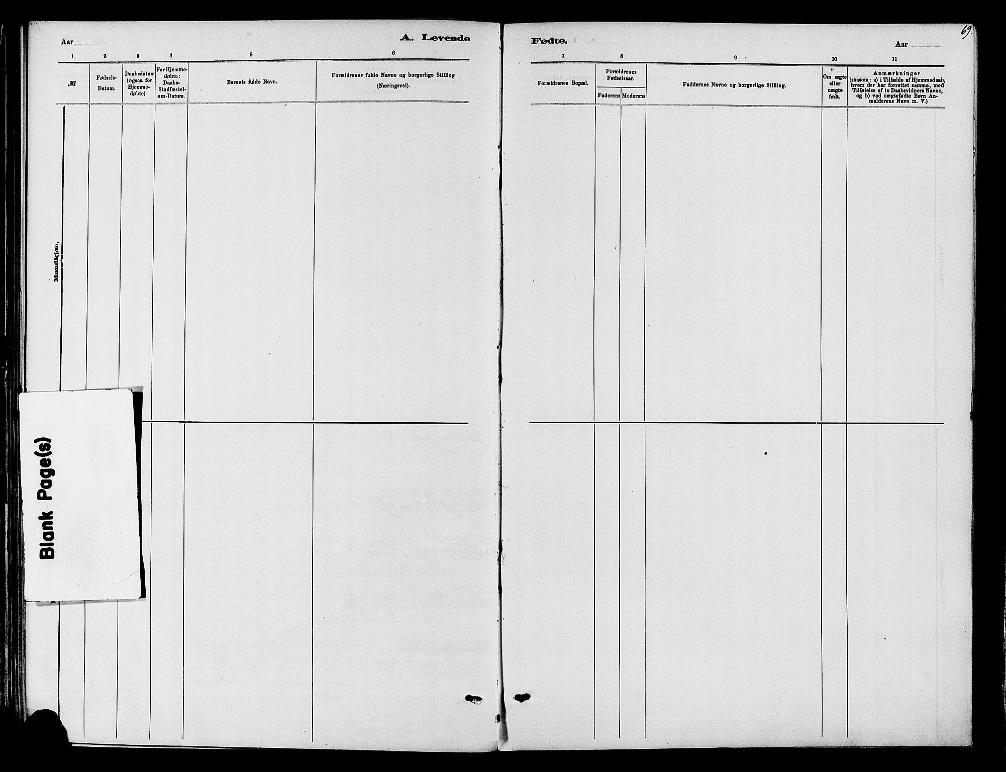 SAH, Vardal prestekontor, H/Ha/Haa/L0010: Ministerialbok nr. 10, 1878-1893, s. 69