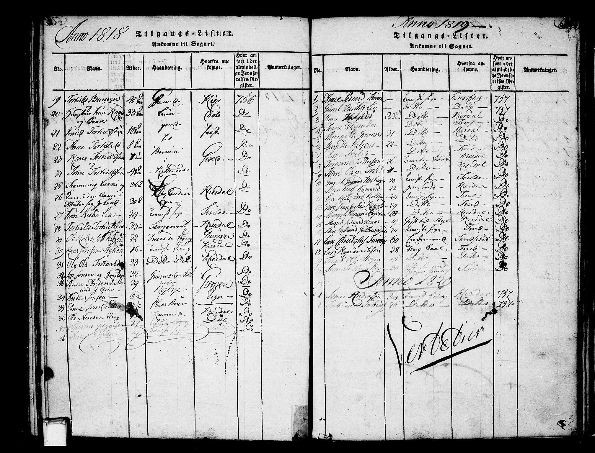 SAKO, Heddal kirkebøker, F/Fa/L0005: Ministerialbok nr. I 5, 1814-1837, s. 623-624