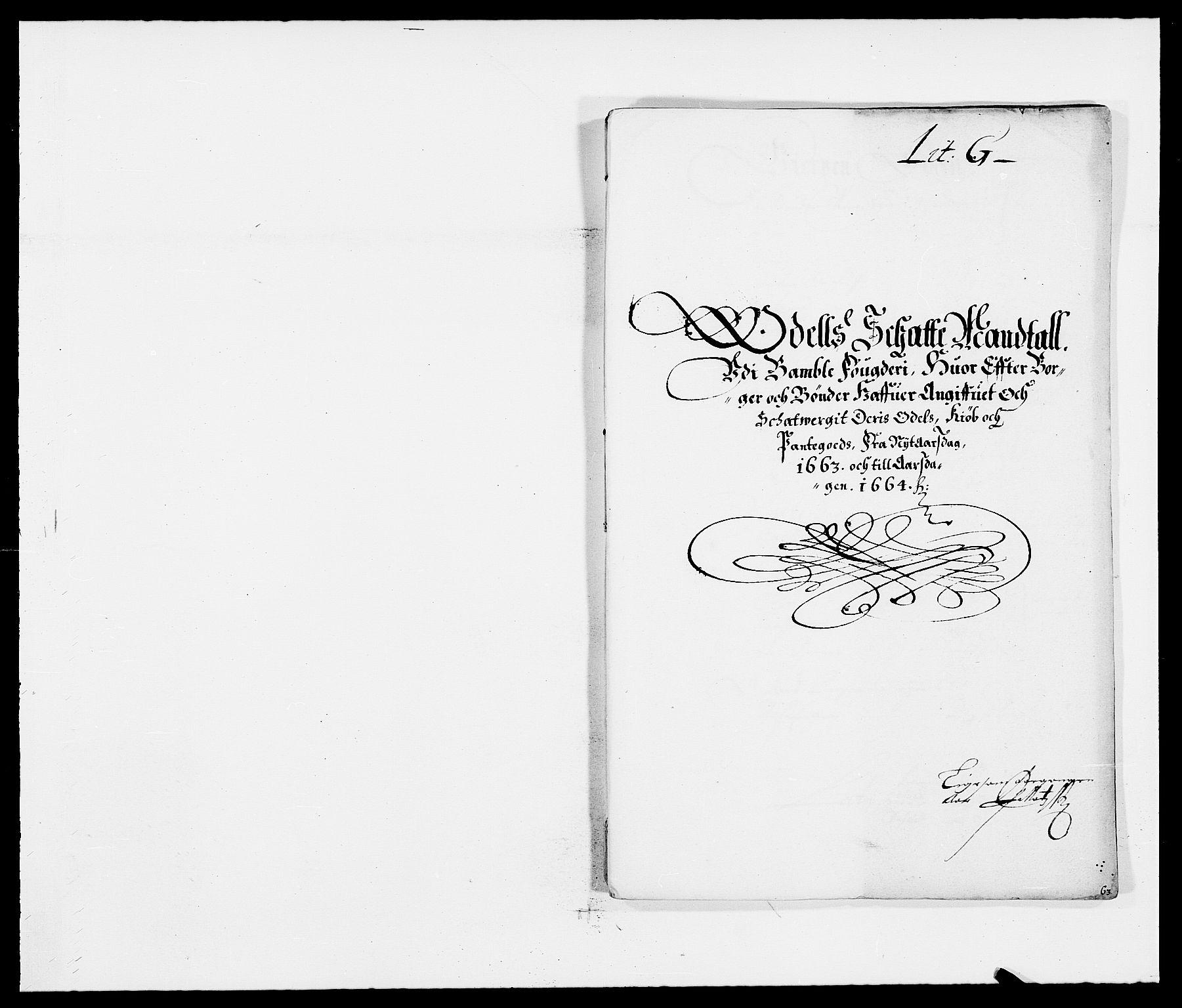 RA, Rentekammeret inntil 1814, Reviderte regnskaper, Fogderegnskap, R34/L2037: Fogderegnskap Bamble, 1662-1669, s. 246