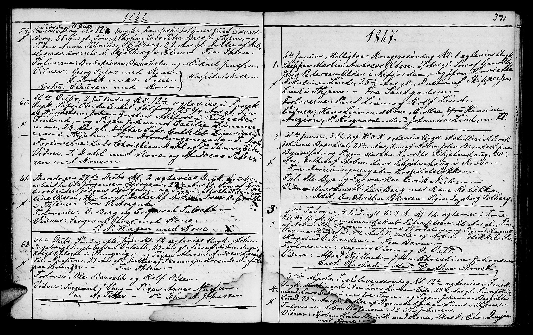 SAT, Ministerialprotokoller, klokkerbøker og fødselsregistre - Sør-Trøndelag, 602/L0140: Klokkerbok nr. 602C08, 1864-1872, s. 370-371