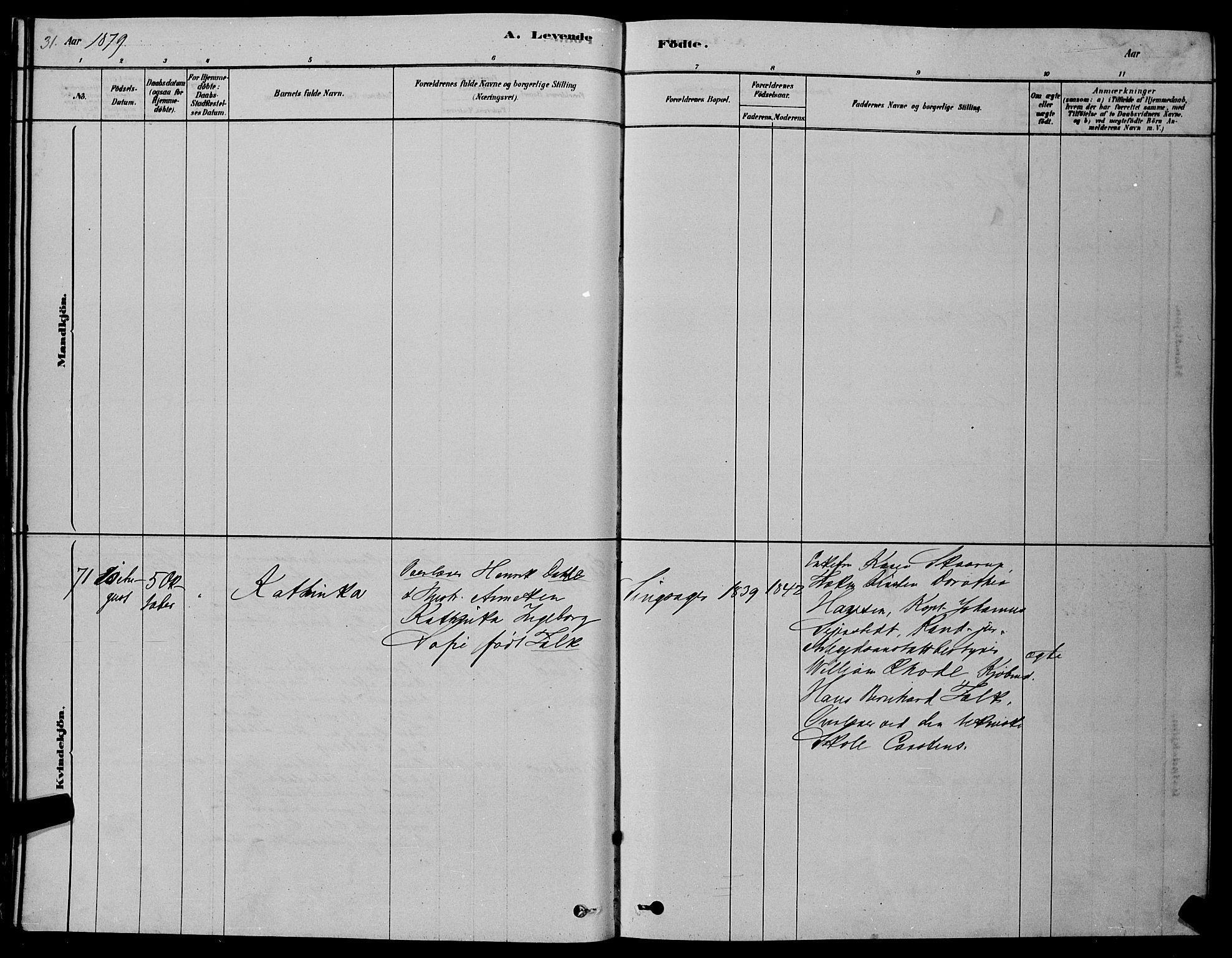 SAT, Ministerialprotokoller, klokkerbøker og fødselsregistre - Sør-Trøndelag, 606/L0312: Klokkerbok nr. 606C08, 1878-1894, s. 31