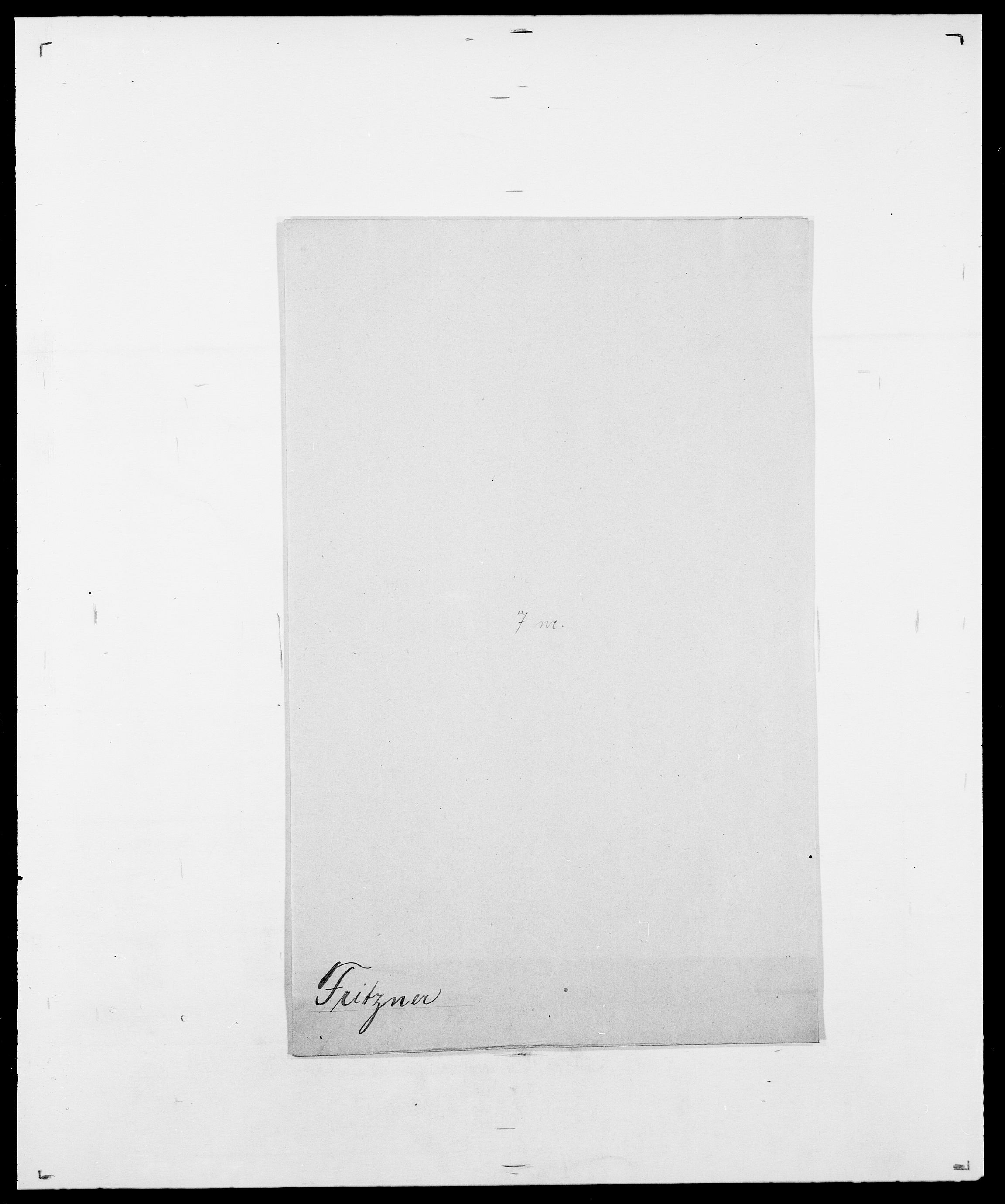 SAO, Delgobe, Charles Antoine - samling, D/Da/L0012: Flor, Floer, Flohr - Fritzner, s. 1042