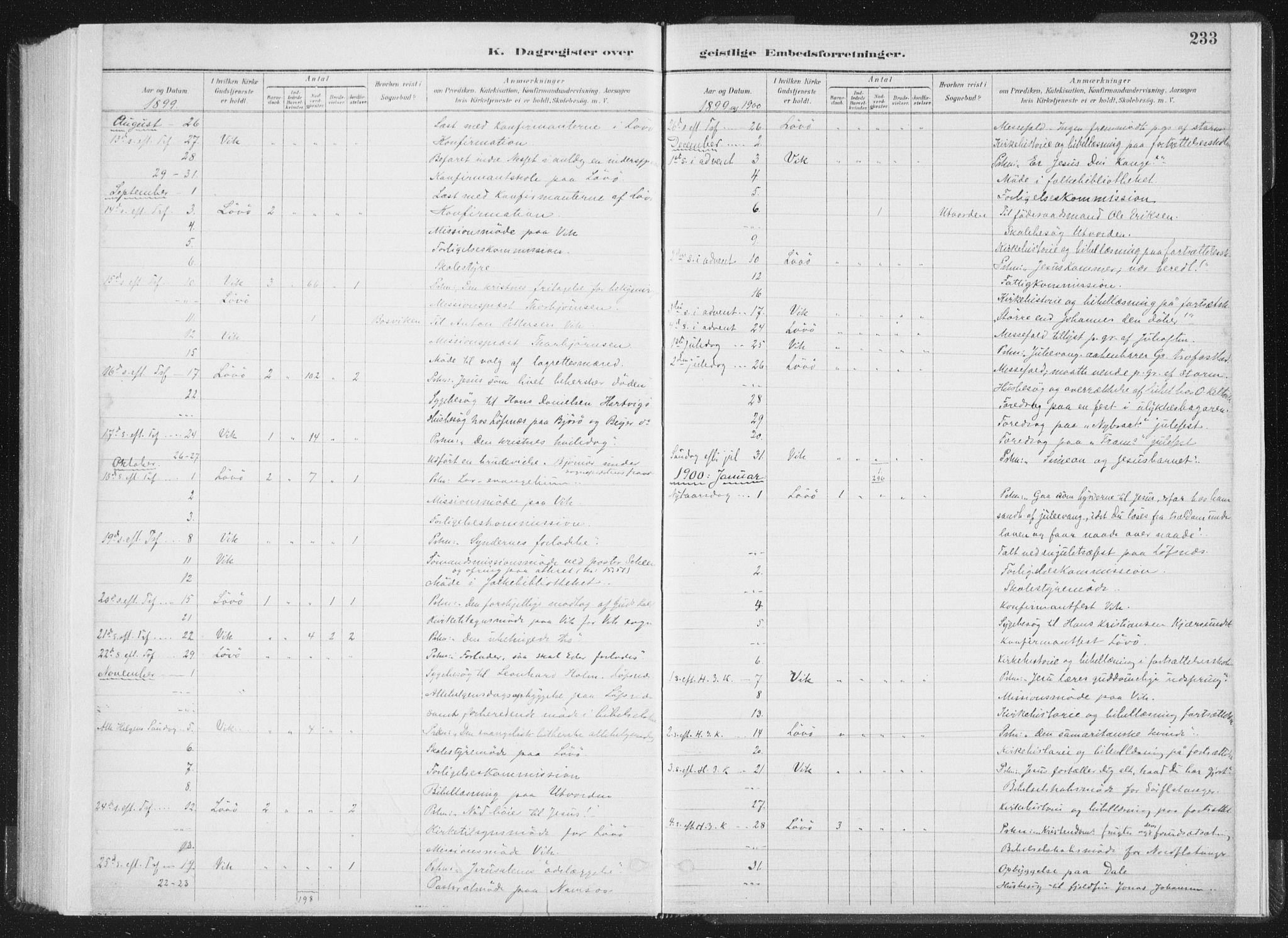 SAT, Ministerialprotokoller, klokkerbøker og fødselsregistre - Nord-Trøndelag, 771/L0597: Ministerialbok nr. 771A04, 1885-1910, s. 233