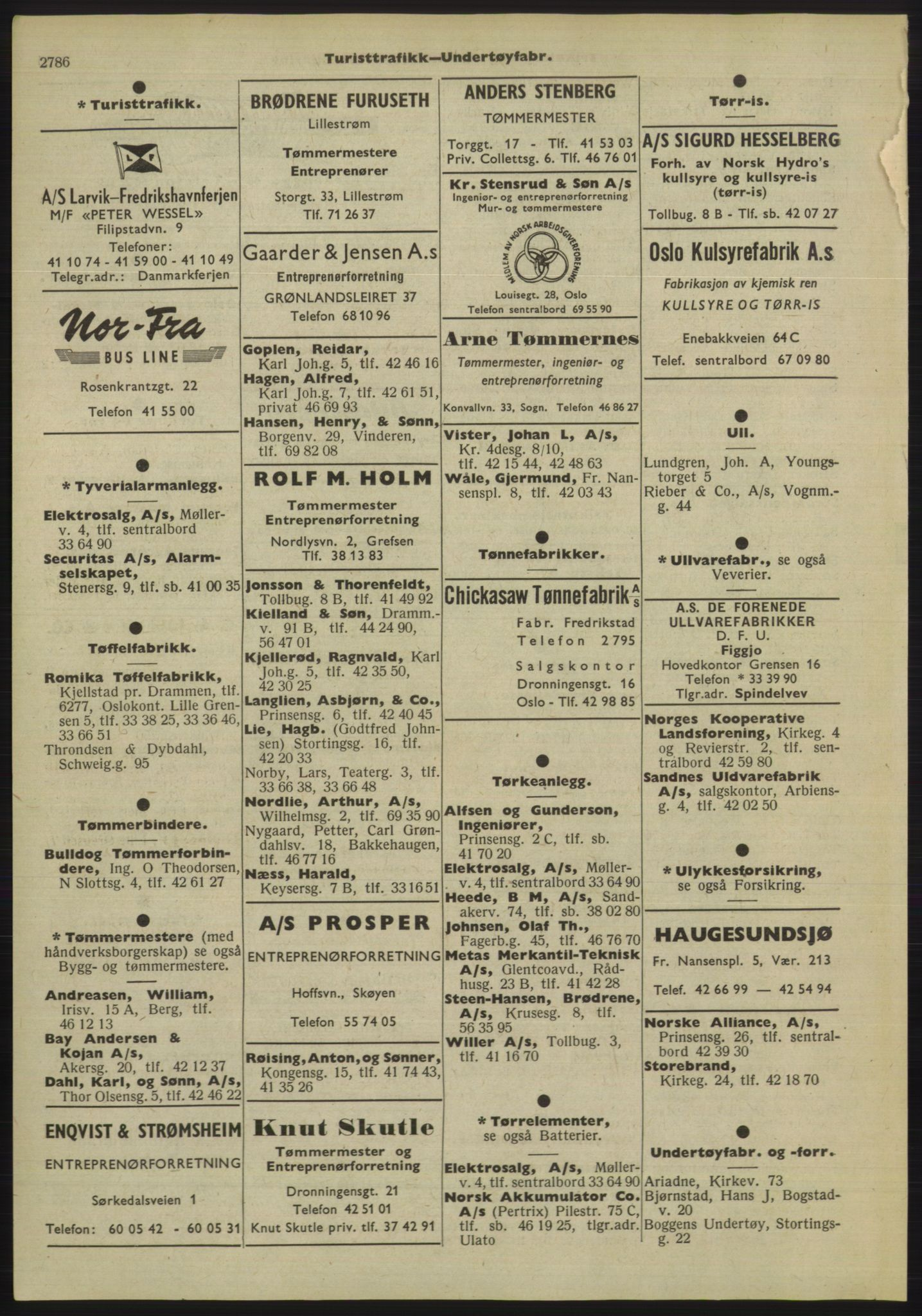 PUBL, Kristiania/Oslo adressebok, 1955, s. 2786
