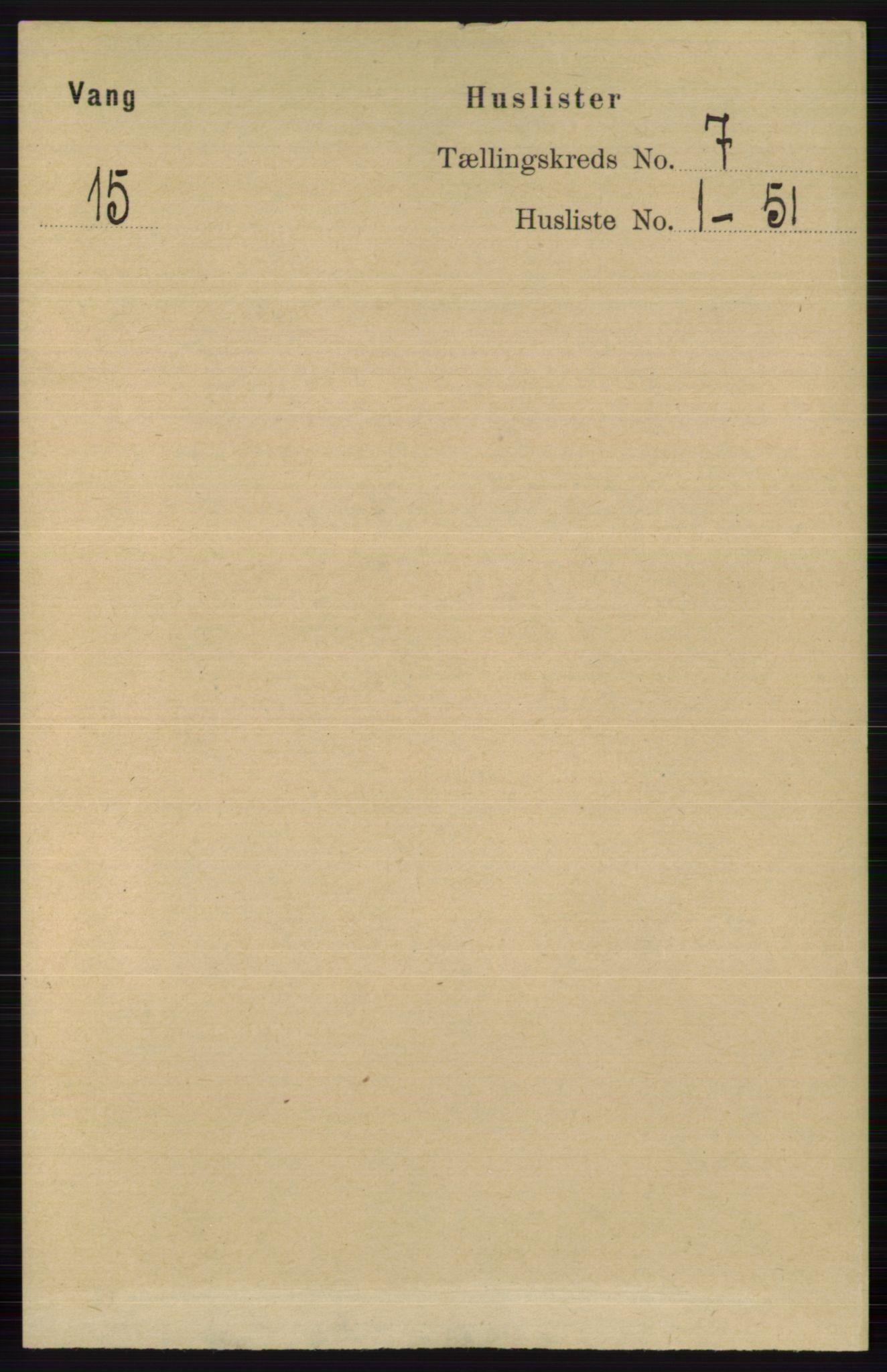 RA, Folketelling 1891 for 0545 Vang herred, 1891, s. 1363