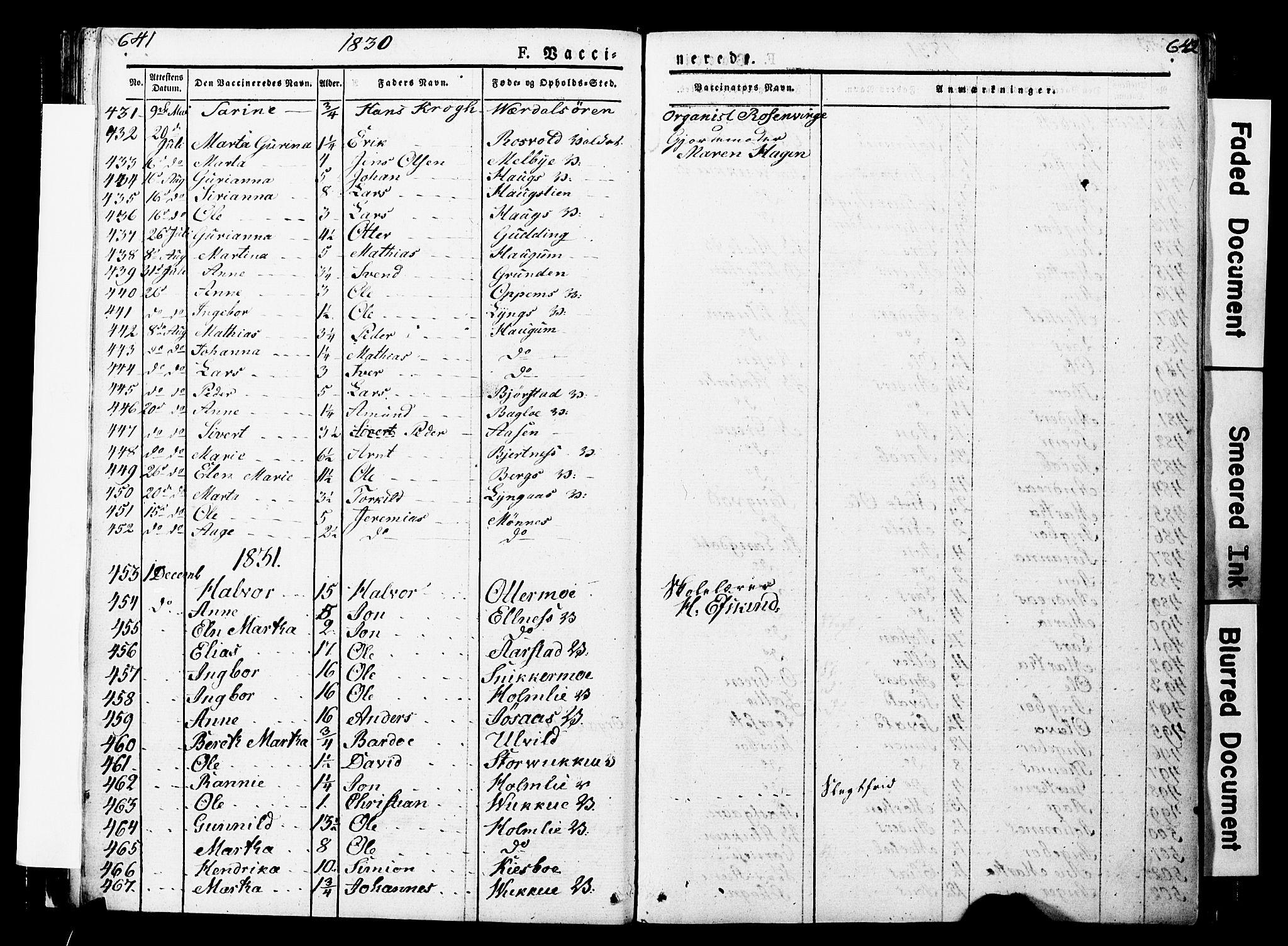SAT, Ministerialprotokoller, klokkerbøker og fødselsregistre - Nord-Trøndelag, 723/L0243: Ministerialbok nr. 723A12, 1822-1851, s. 641-642