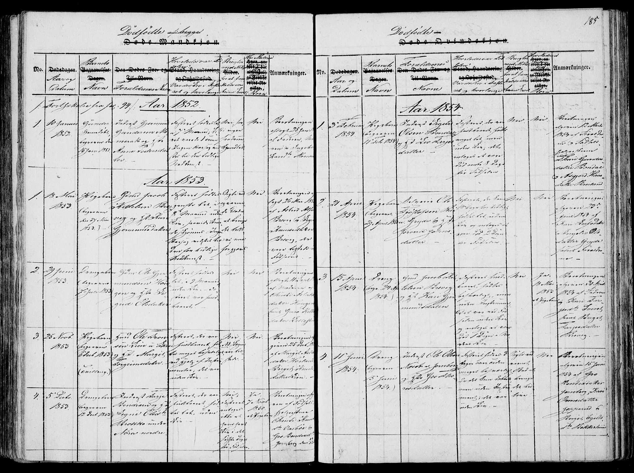 SAKO, Fyresdal kirkebøker, F/Fa/L0004: Ministerialbok nr. I 4, 1815-1854, s. 185