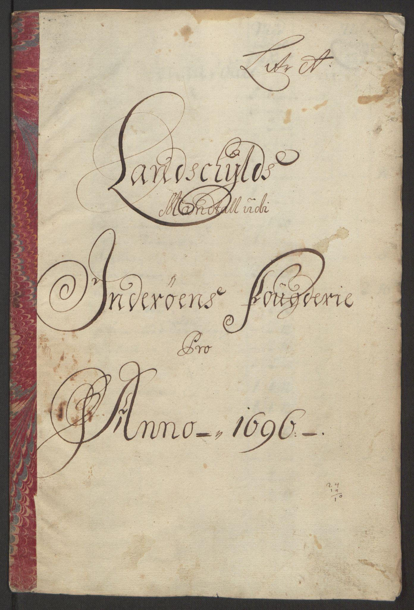 RA, Rentekammeret inntil 1814, Reviderte regnskaper, Fogderegnskap, R63/L4309: Fogderegnskap Inderøy, 1695-1697, s. 126