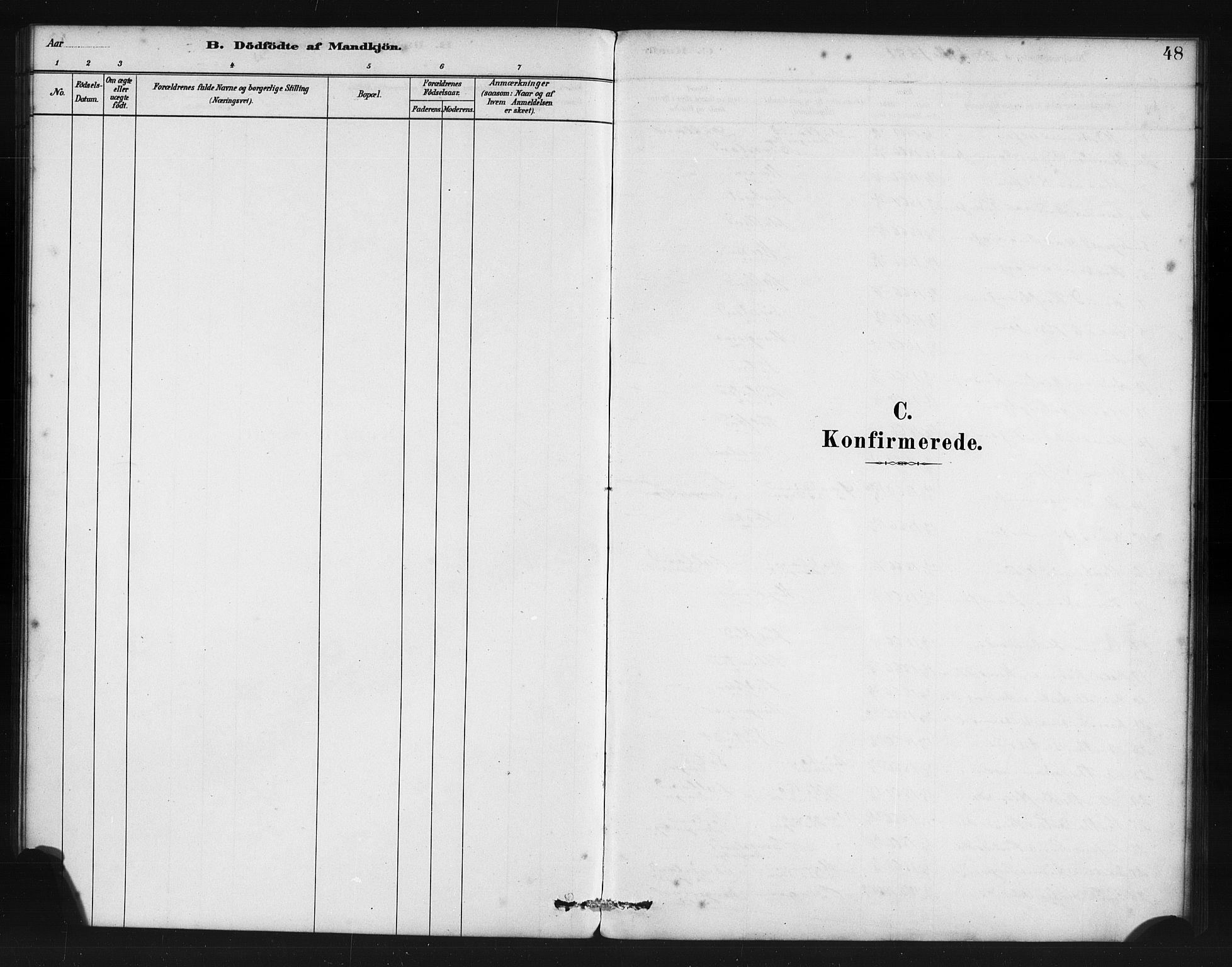 SAB, Manger sokneprestembete, H/Haa: Ministerialbok nr. B 1, 1881-1892, s. 48