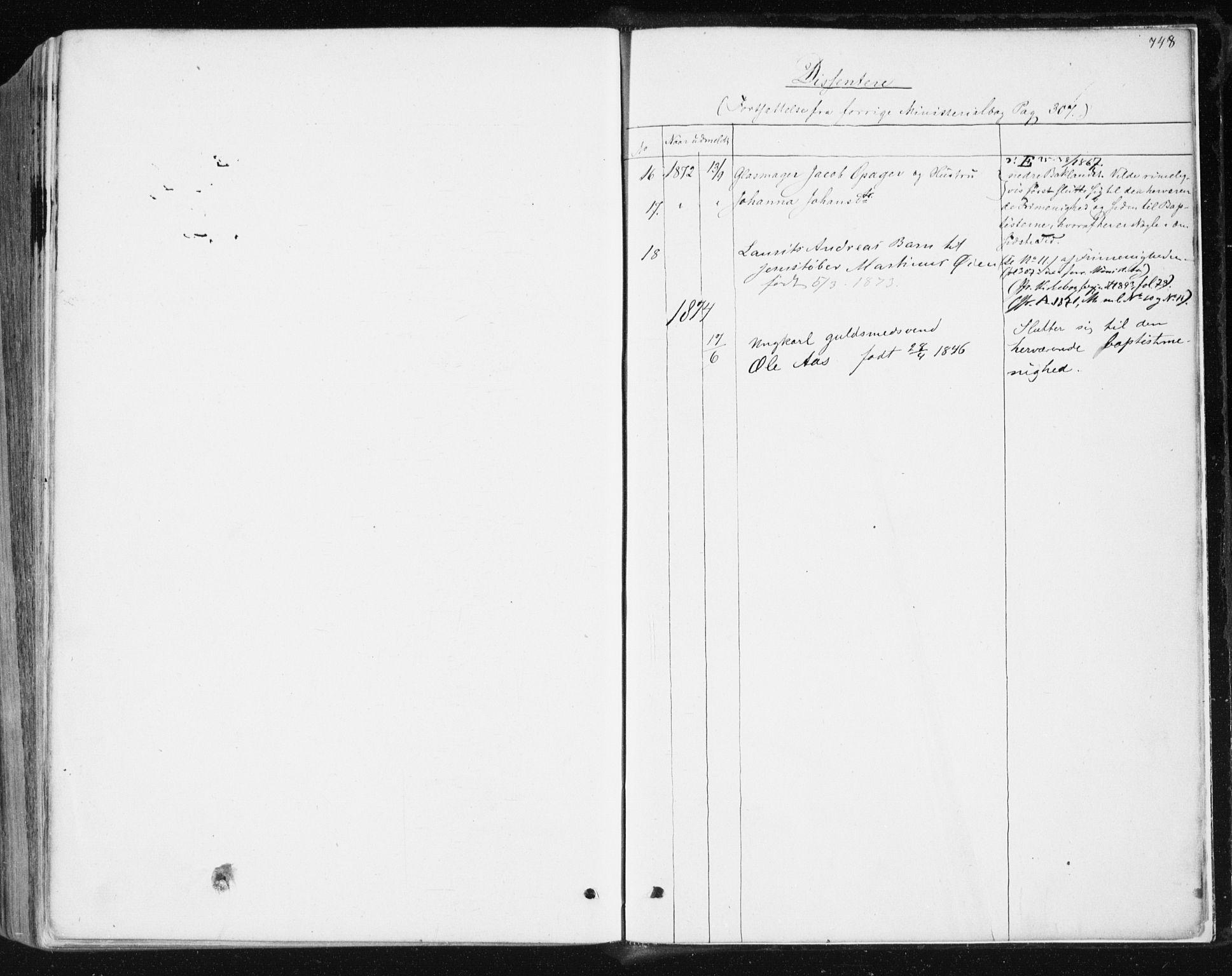 SAT, Ministerialprotokoller, klokkerbøker og fødselsregistre - Sør-Trøndelag, 604/L0186: Ministerialbok nr. 604A07, 1866-1877, s. 748