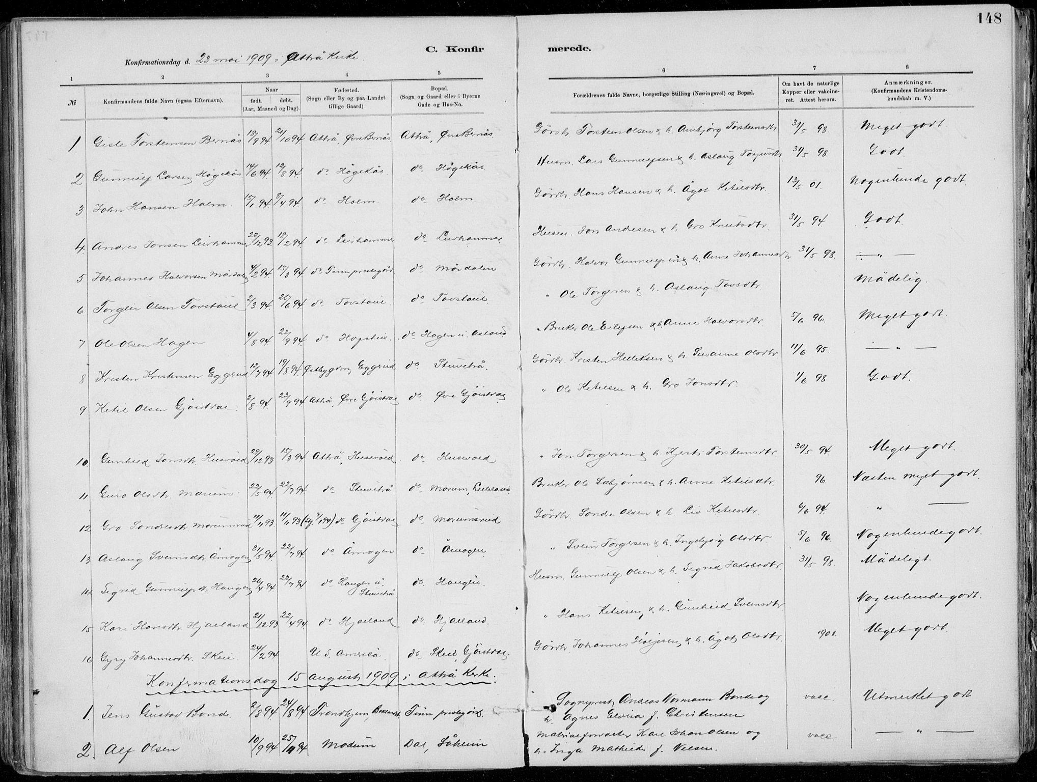SAKO, Tinn kirkebøker, F/Fa/L0007: Ministerialbok nr. I 7, 1878-1922, s. 148
