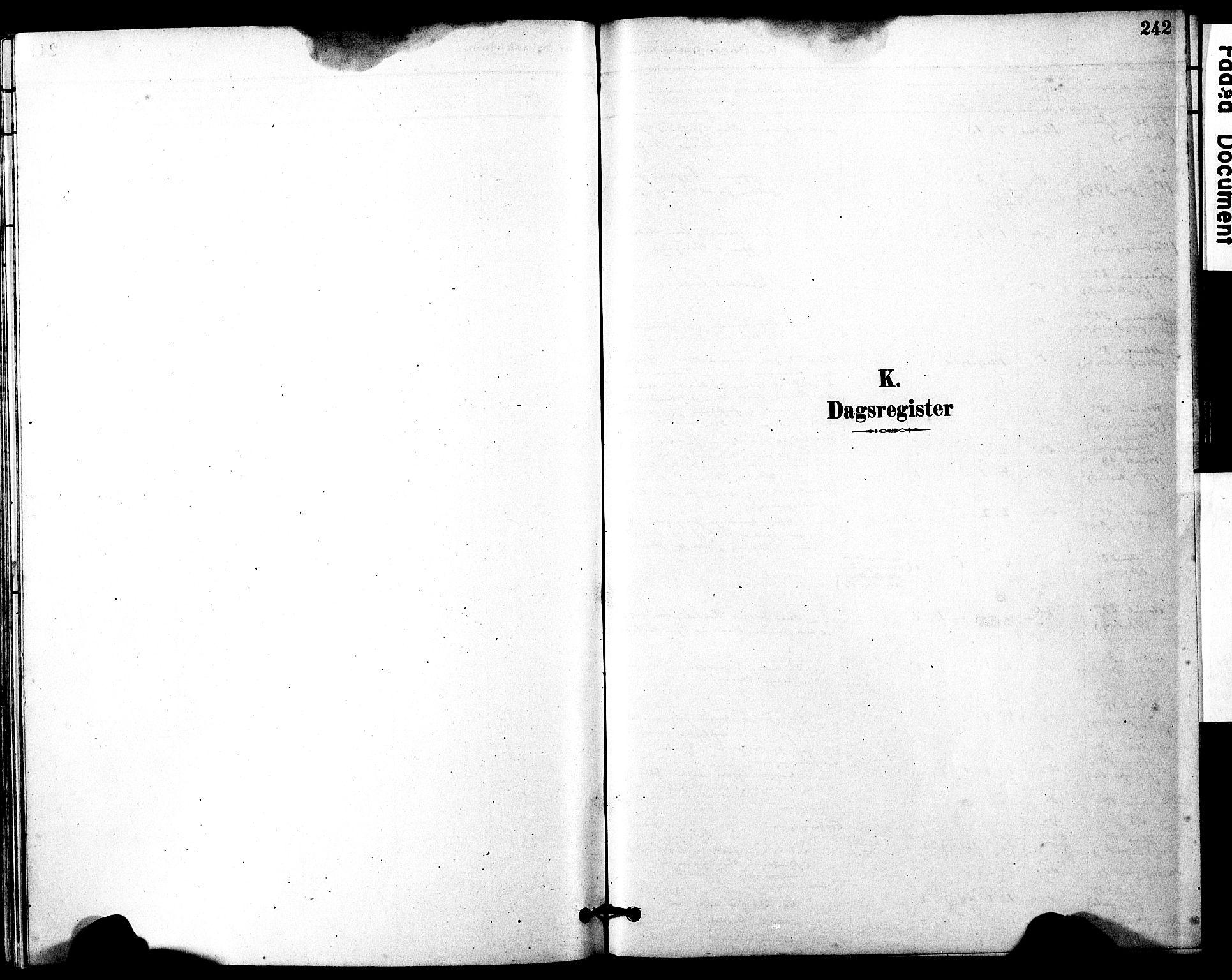 SAT, Ministerialprotokoller, klokkerbøker og fødselsregistre - Møre og Romsdal, 525/L0374: Ministerialbok nr. 525A04, 1880-1899, s. 242