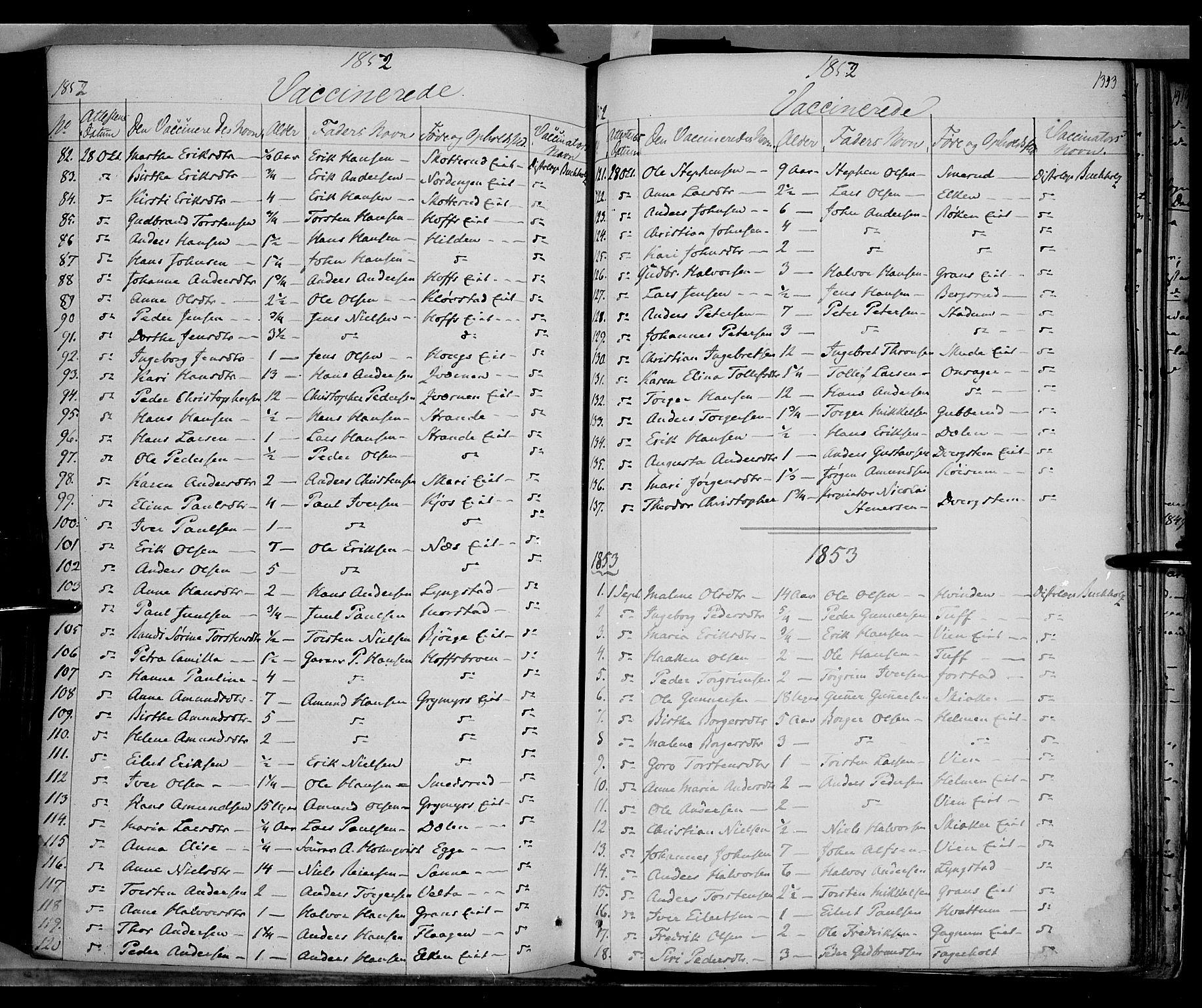 SAH, Gran prestekontor, Ministerialbok nr. 11, 1842-1856, s. 1342-1343