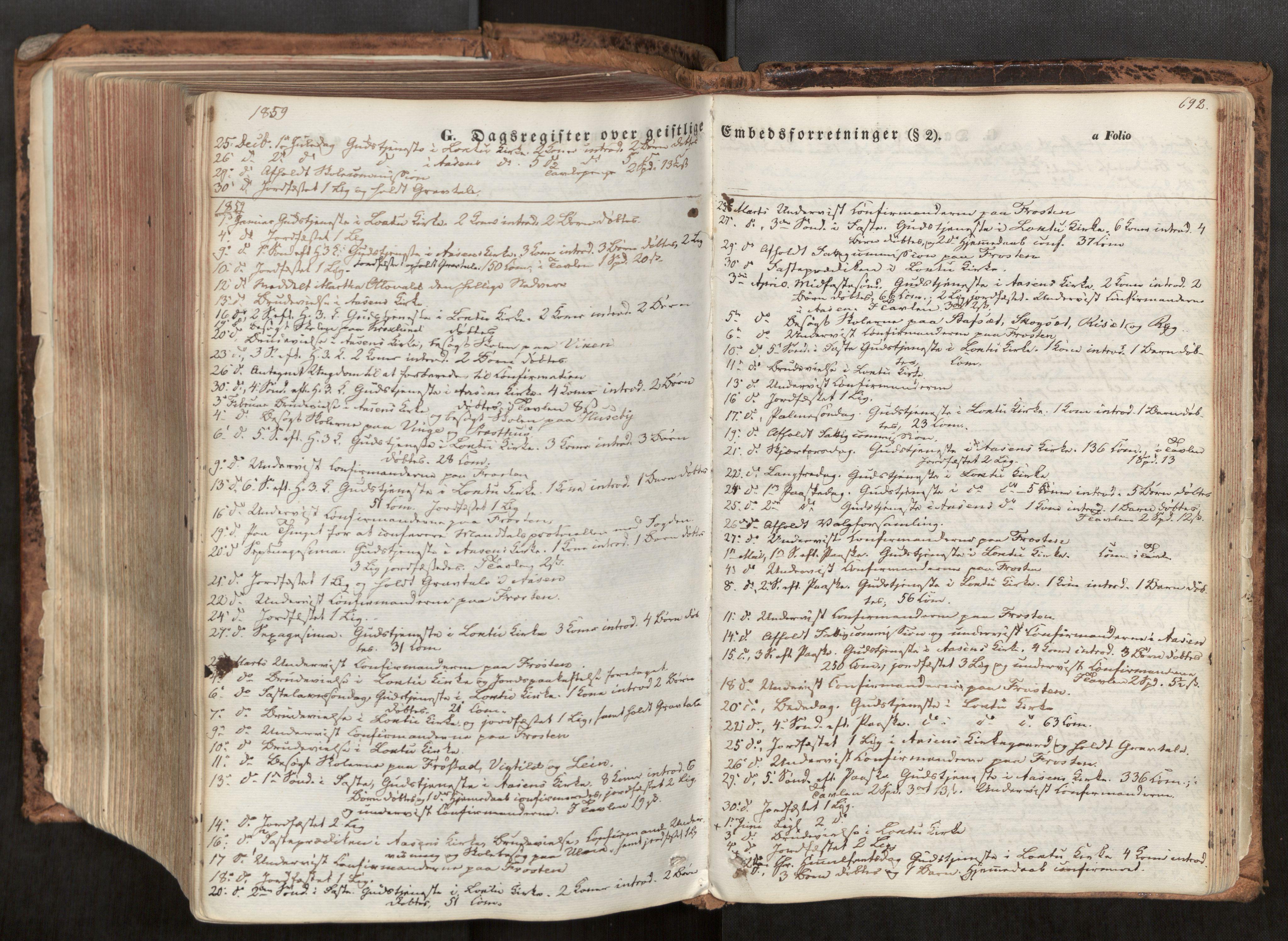 SAT, Ministerialprotokoller, klokkerbøker og fødselsregistre - Nord-Trøndelag, 713/L0116: Ministerialbok nr. 713A07, 1850-1877, s. 692