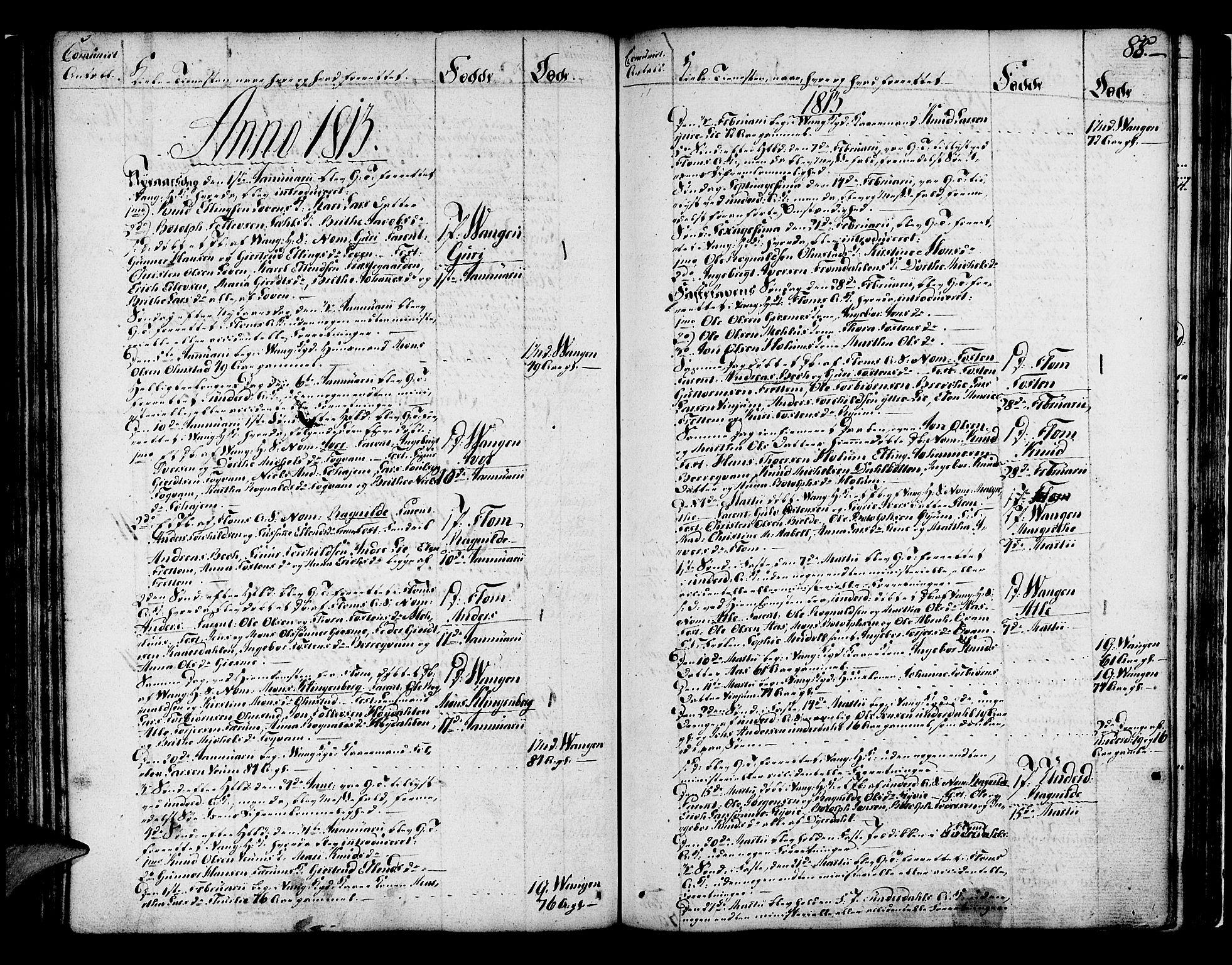 SAB, Aurland Sokneprestembete*, Ministerialbok nr. A 5, 1801-1821, s. 88