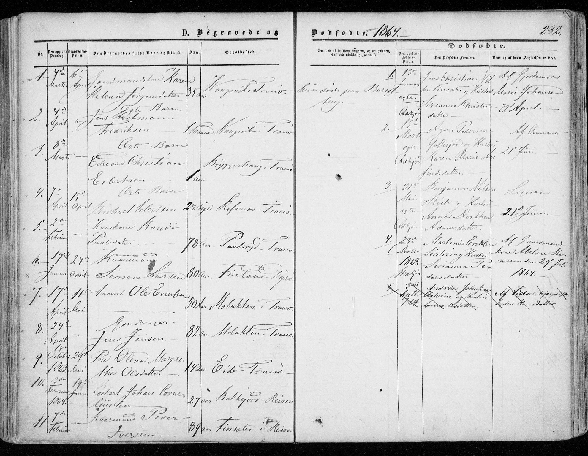 SATØ, Tranøy sokneprestkontor, I/Ia/Iaa/L0007kirke: Ministerialbok nr. 7, 1856-1866, s. 282