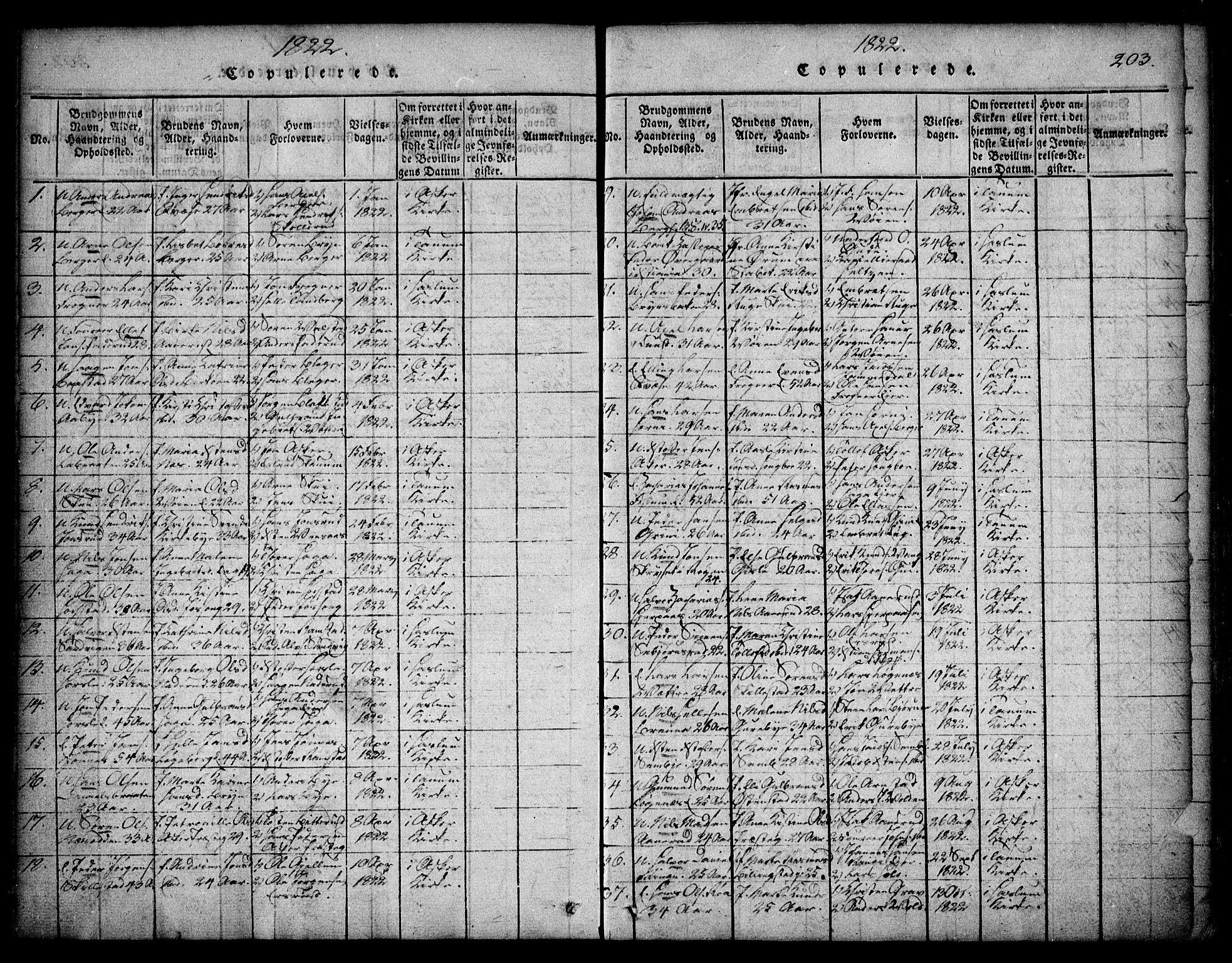 SAO, Asker prestekontor Kirkebøker, F/Fa/L0006: Ministerialbok nr. I 6, 1814-1824, s. 203