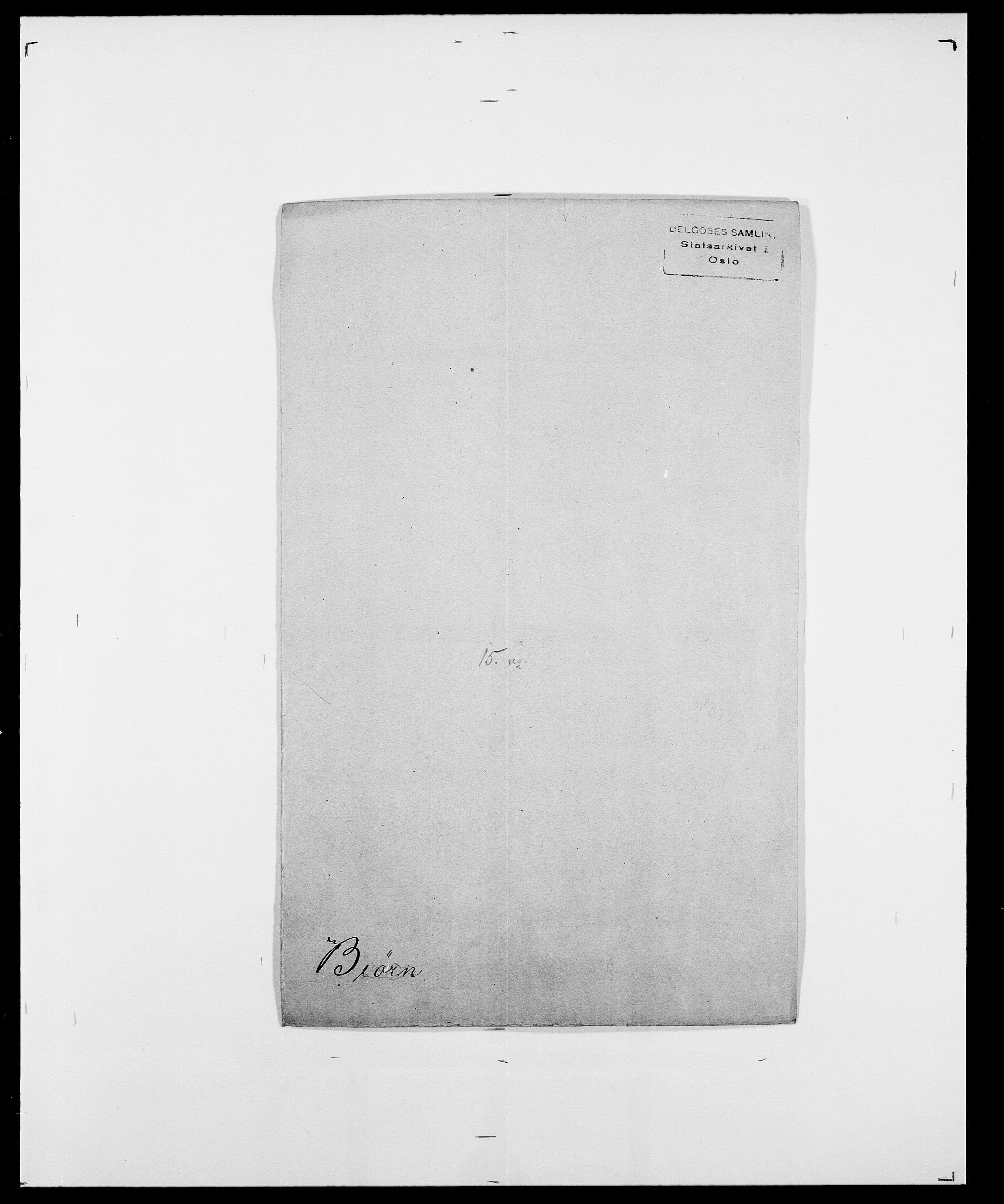 SAO, Delgobe, Charles Antoine - samling, D/Da/L0004: Bergendahl - Blære, s. 389