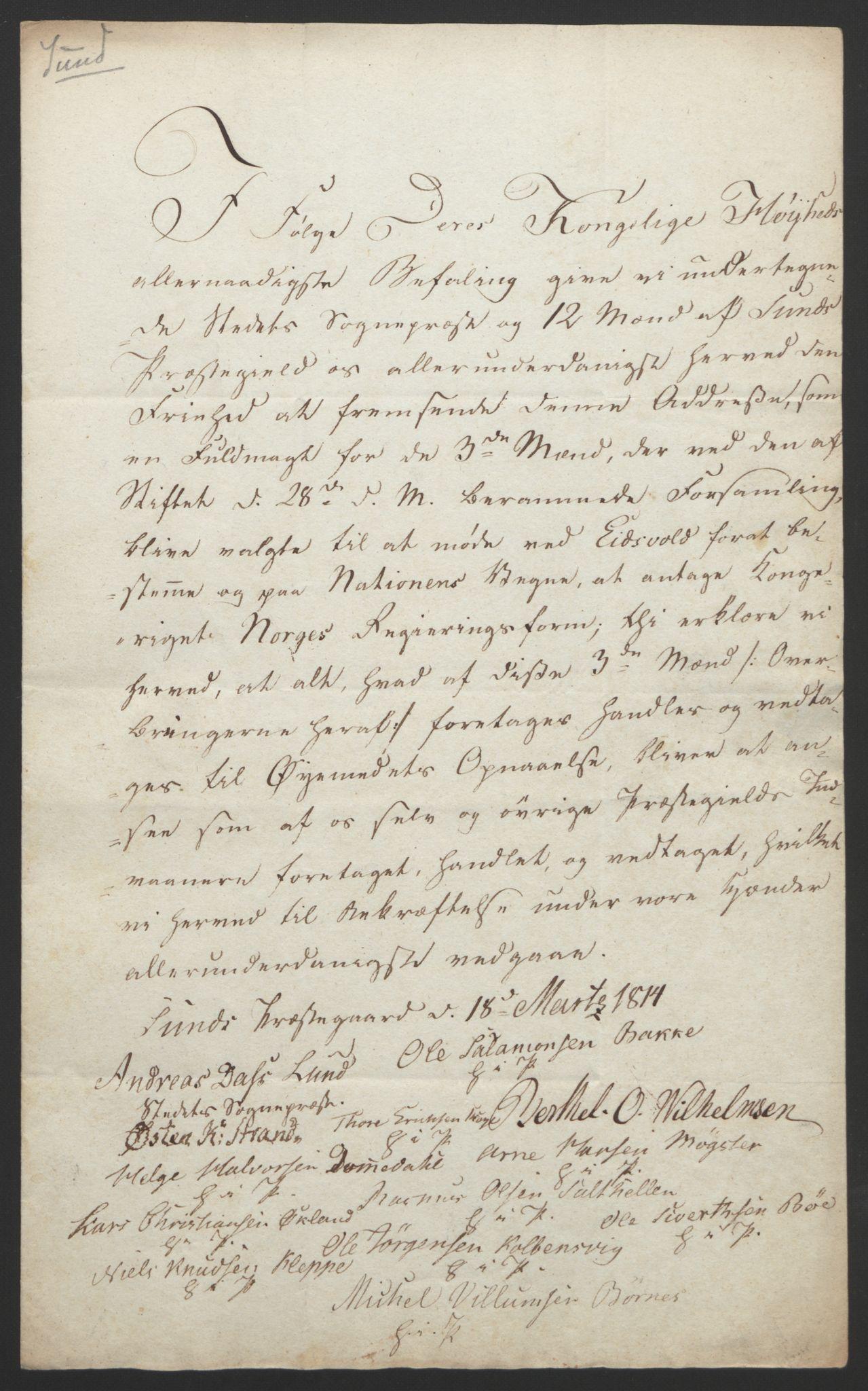 RA, Statsrådssekretariatet, D/Db/L0008: Fullmakter for Eidsvollsrepresentantene i 1814. , 1814, s. 300