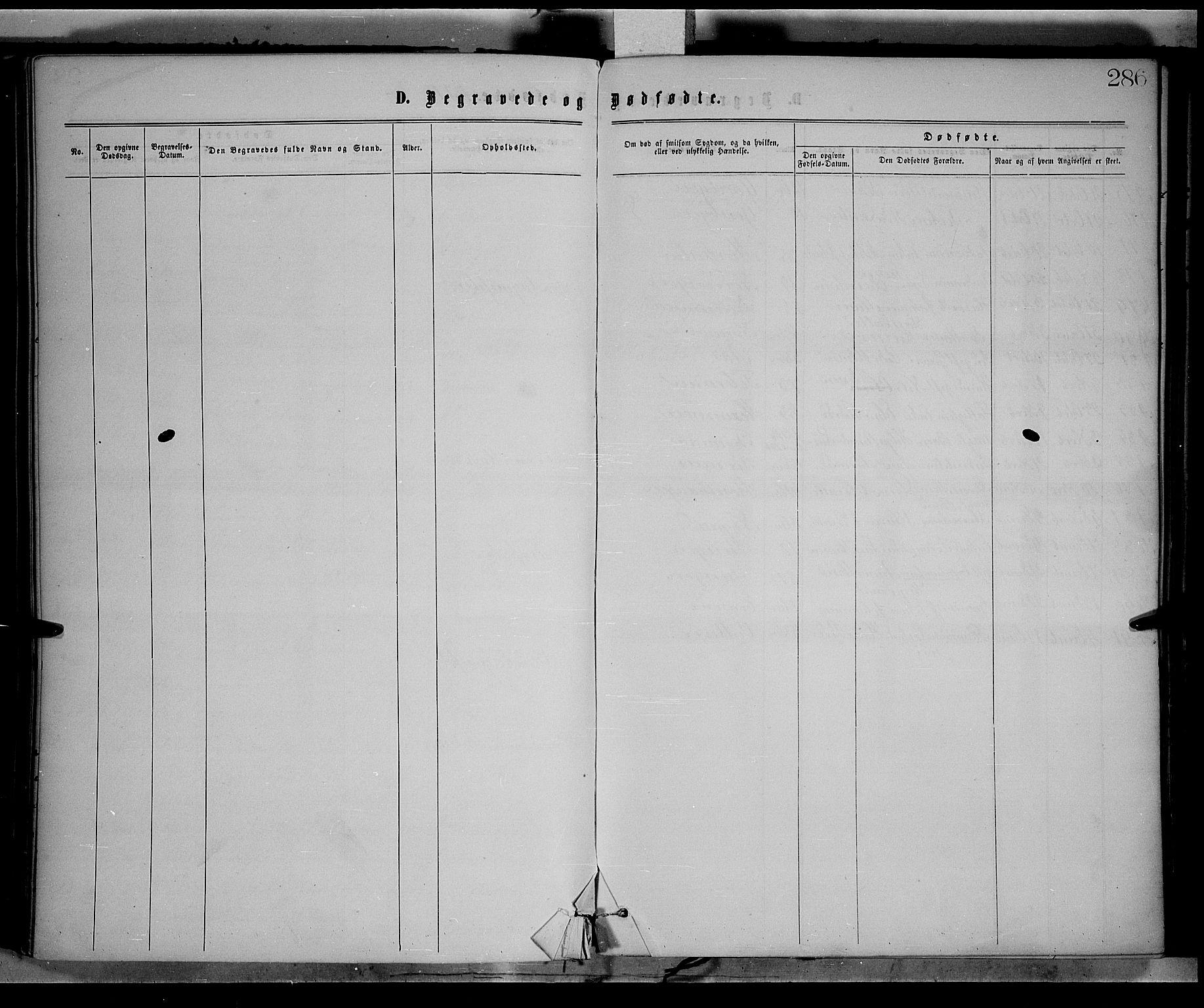 SAH, Vestre Toten prestekontor, H/Ha/Haa/L0008: Ministerialbok nr. 8, 1870-1877, s. 286