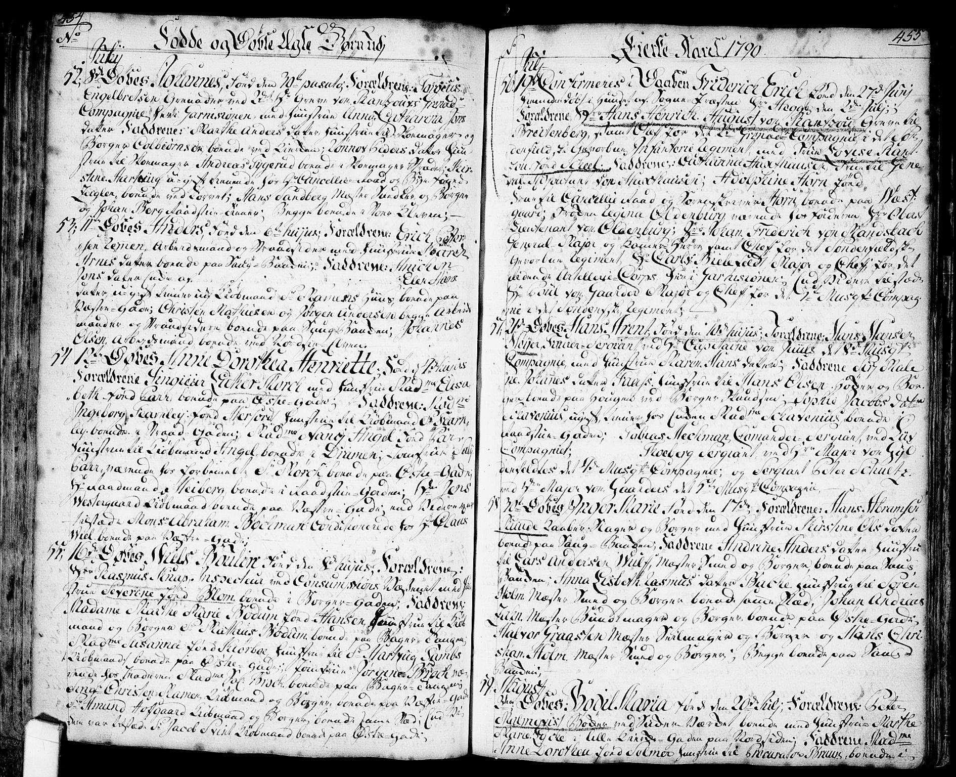 SAO, Halden prestekontor Kirkebøker, F/Fa/L0001: Ministerialbok nr. I 1, 1758-1791, s. 454-455