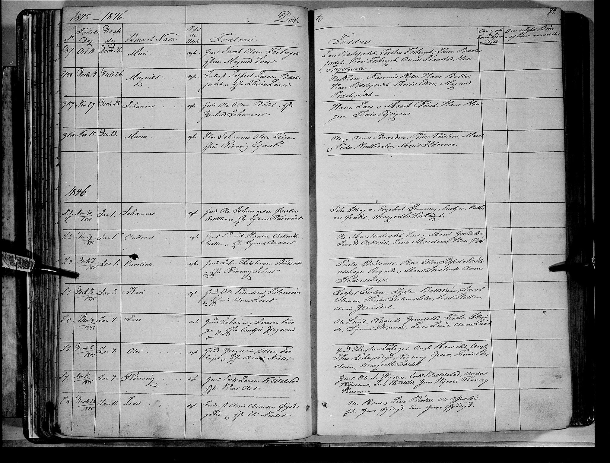 SAH, Lom prestekontor, K/L0006: Ministerialbok nr. 6A, 1837-1863, s. 74