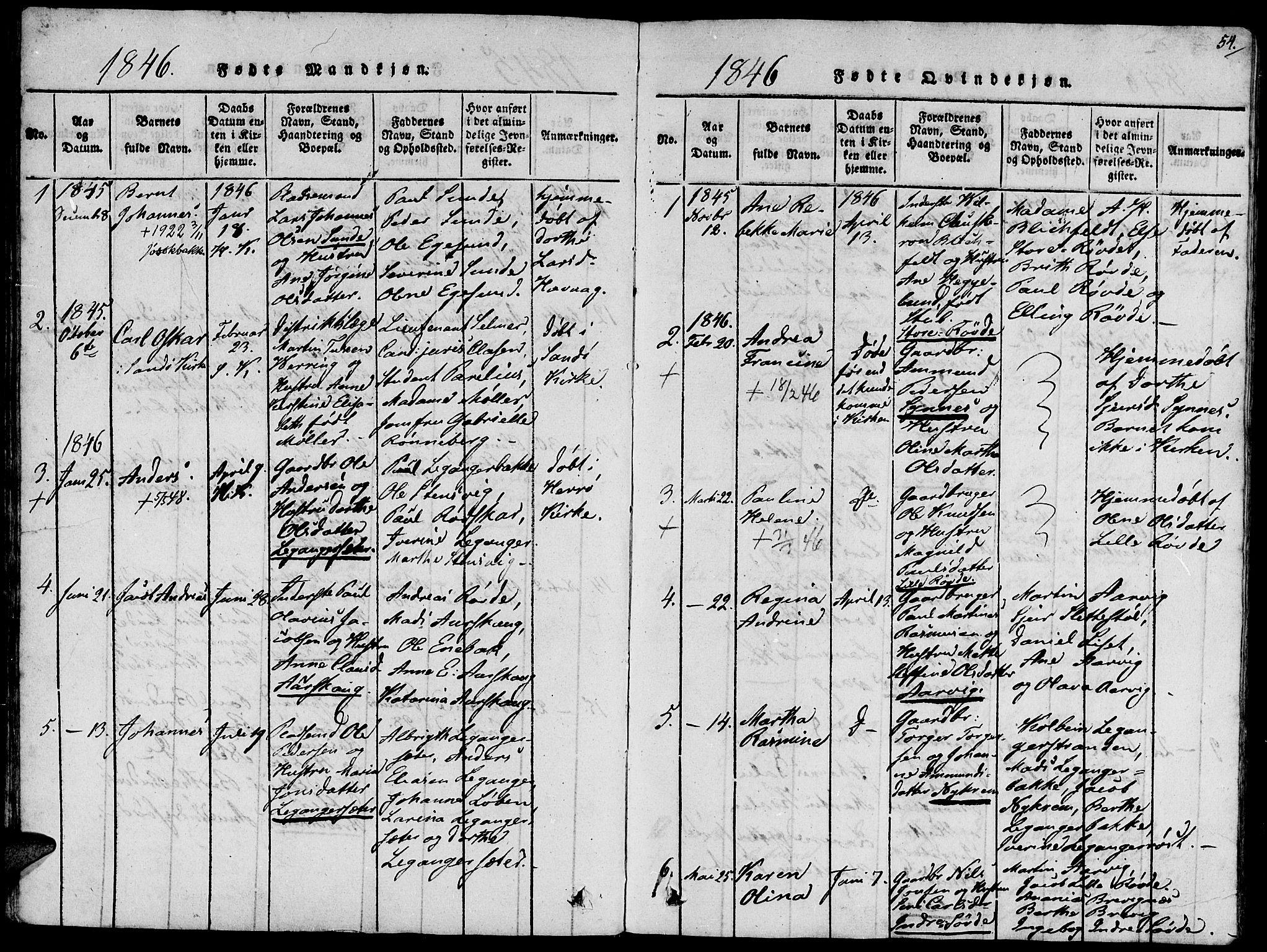 SAT, Ministerialprotokoller, klokkerbøker og fødselsregistre - Møre og Romsdal, 504/L0054: Ministerialbok nr. 504A01, 1816-1861, s. 54