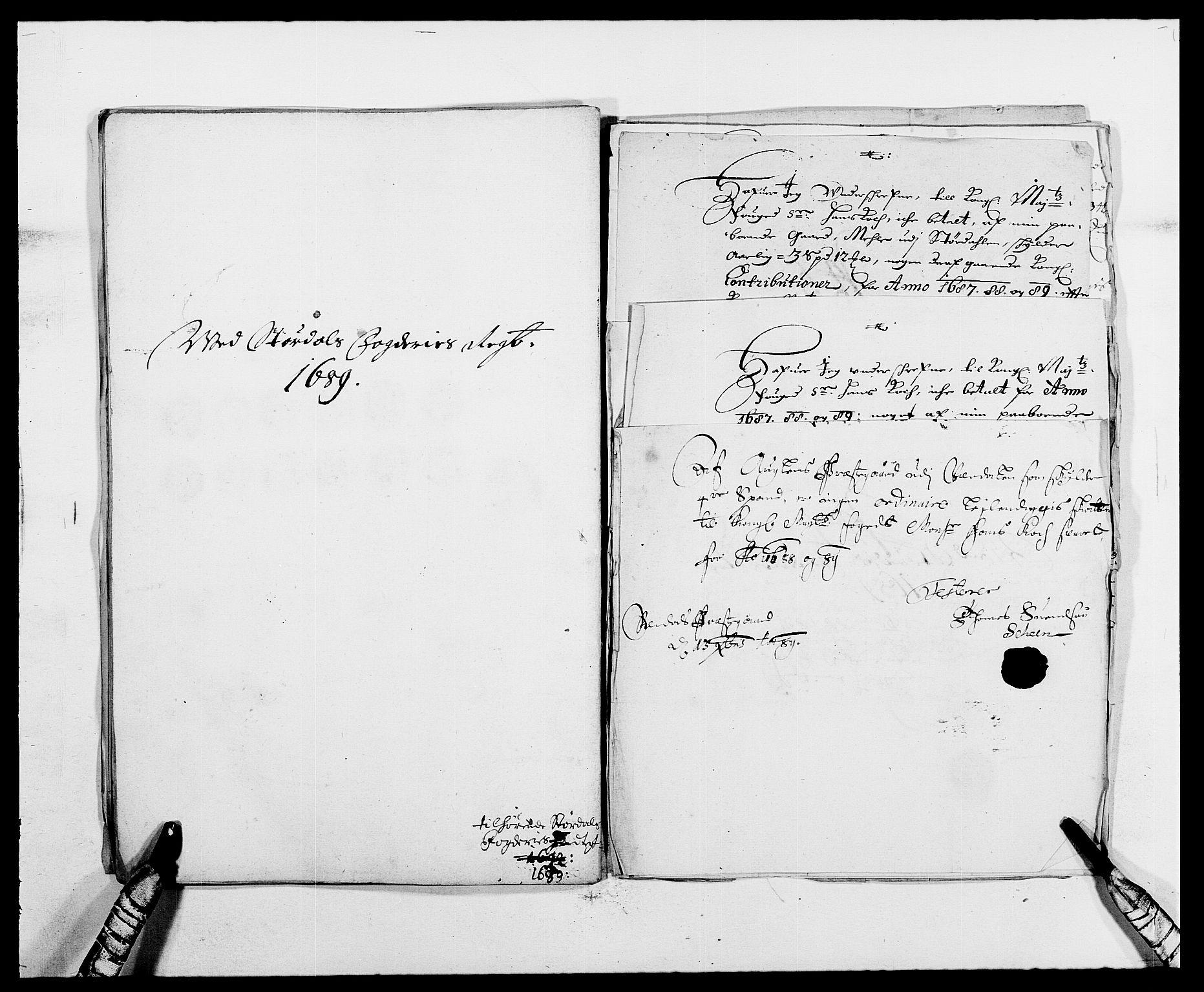 RA, Rentekammeret inntil 1814, Reviderte regnskaper, Fogderegnskap, R62/L4183: Fogderegnskap Stjørdal og Verdal, 1687-1689, s. 406