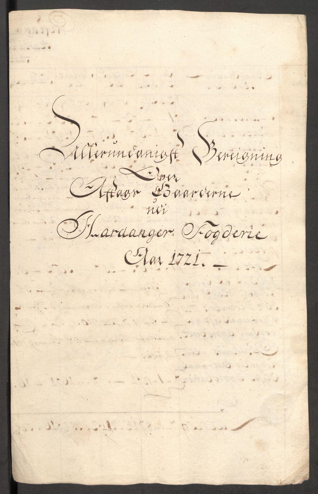 RA, Rentekammeret inntil 1814, Reviderte regnskaper, Fogderegnskap, R48/L3000: Fogderegnskap Sunnhordland og Hardanger, 1721, s. 388