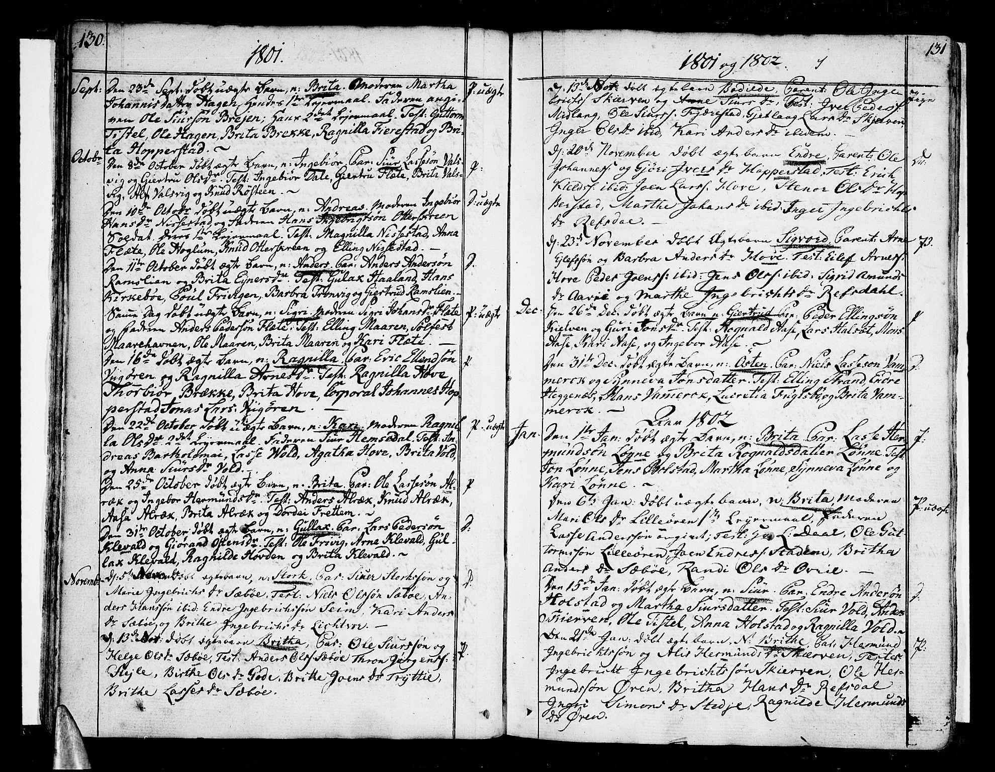 SAB, Vik Sokneprestembete, Ministerialbok nr. A 5, 1787-1820, s. 130-131