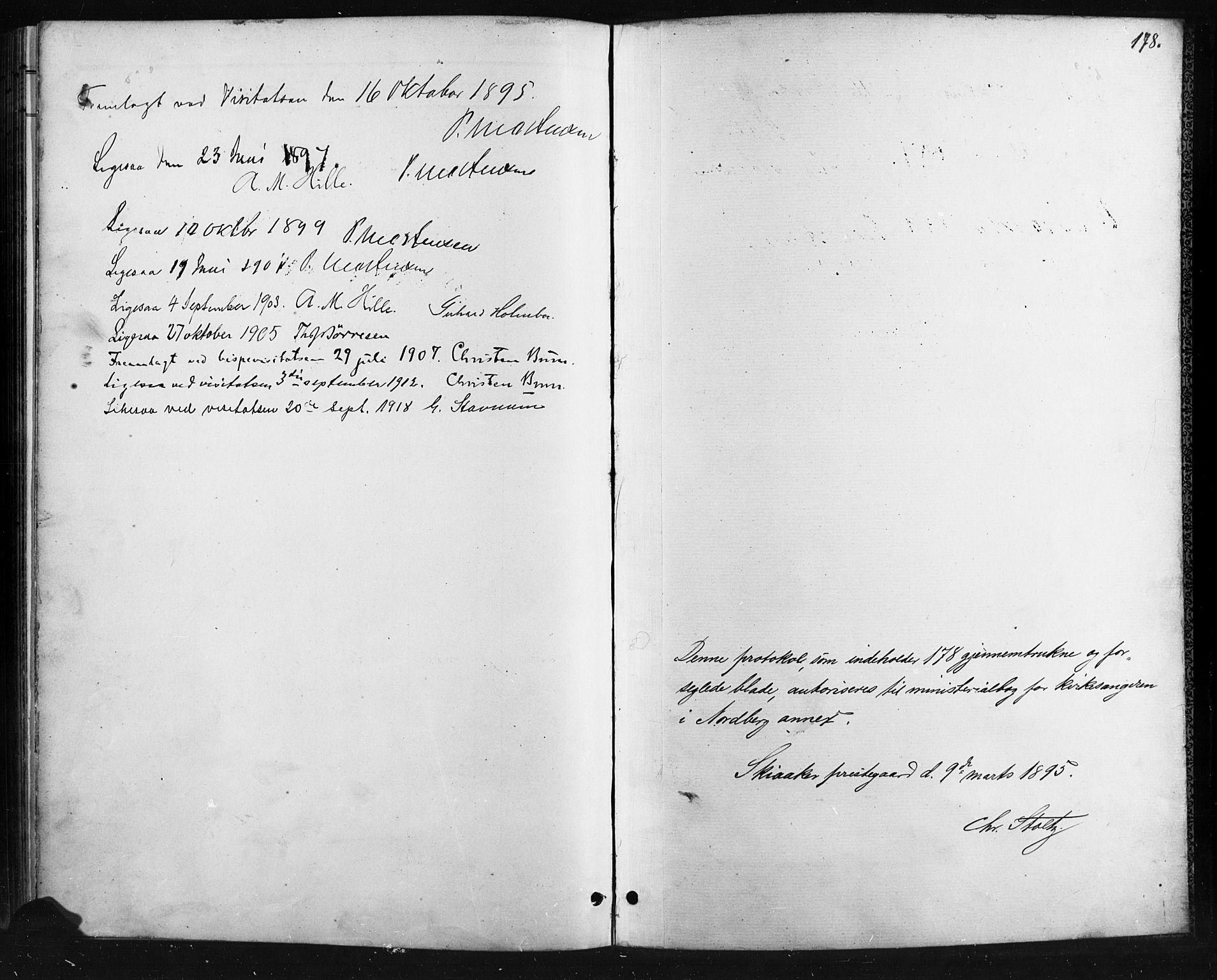 SAH, Skjåk prestekontor, Klokkerbok nr. 4, 1895-1921, s. 178
