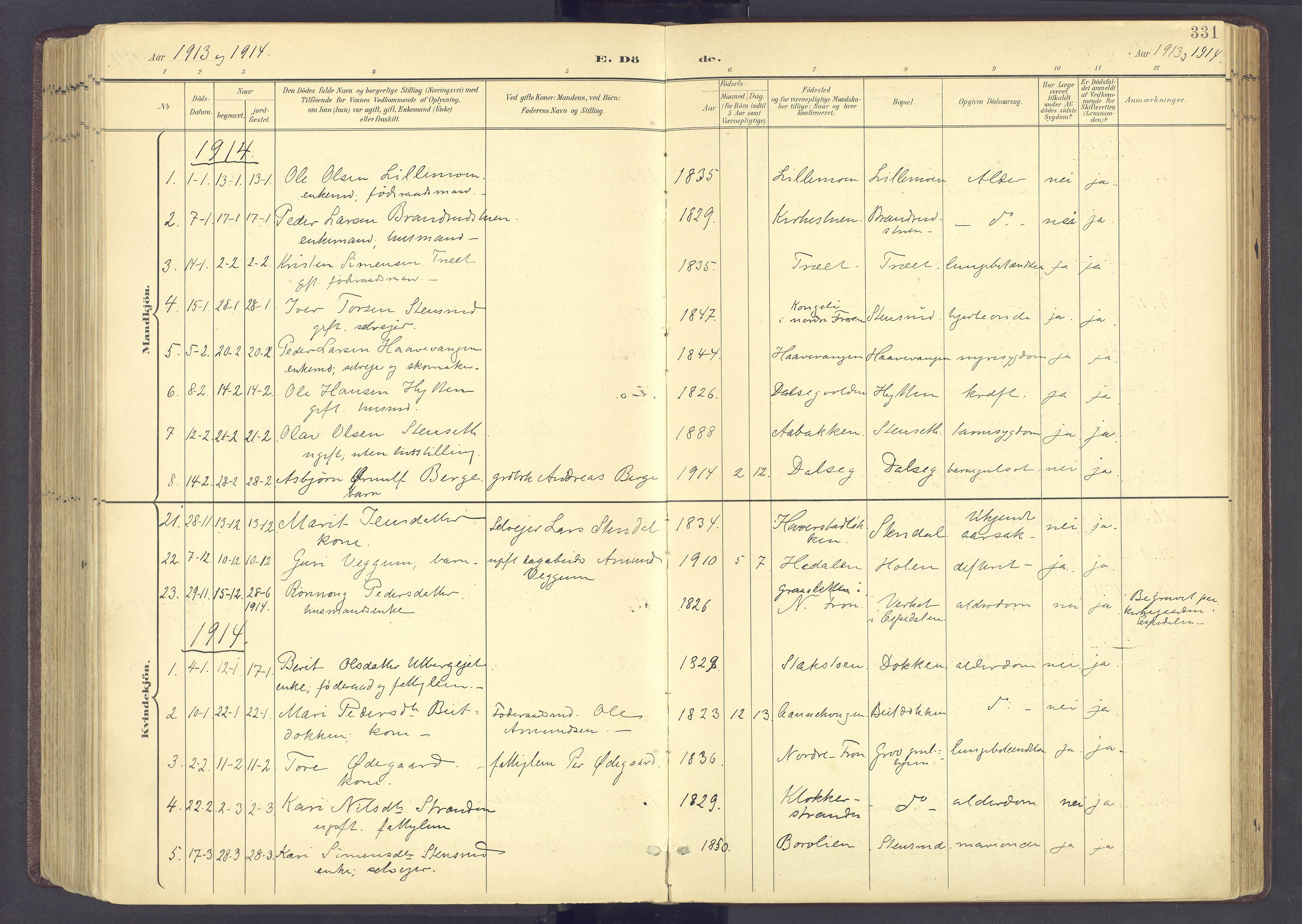 SAH, Sør-Fron prestekontor, H/Ha/Haa/L0004: Ministerialbok nr. 4, 1898-1919, s. 331