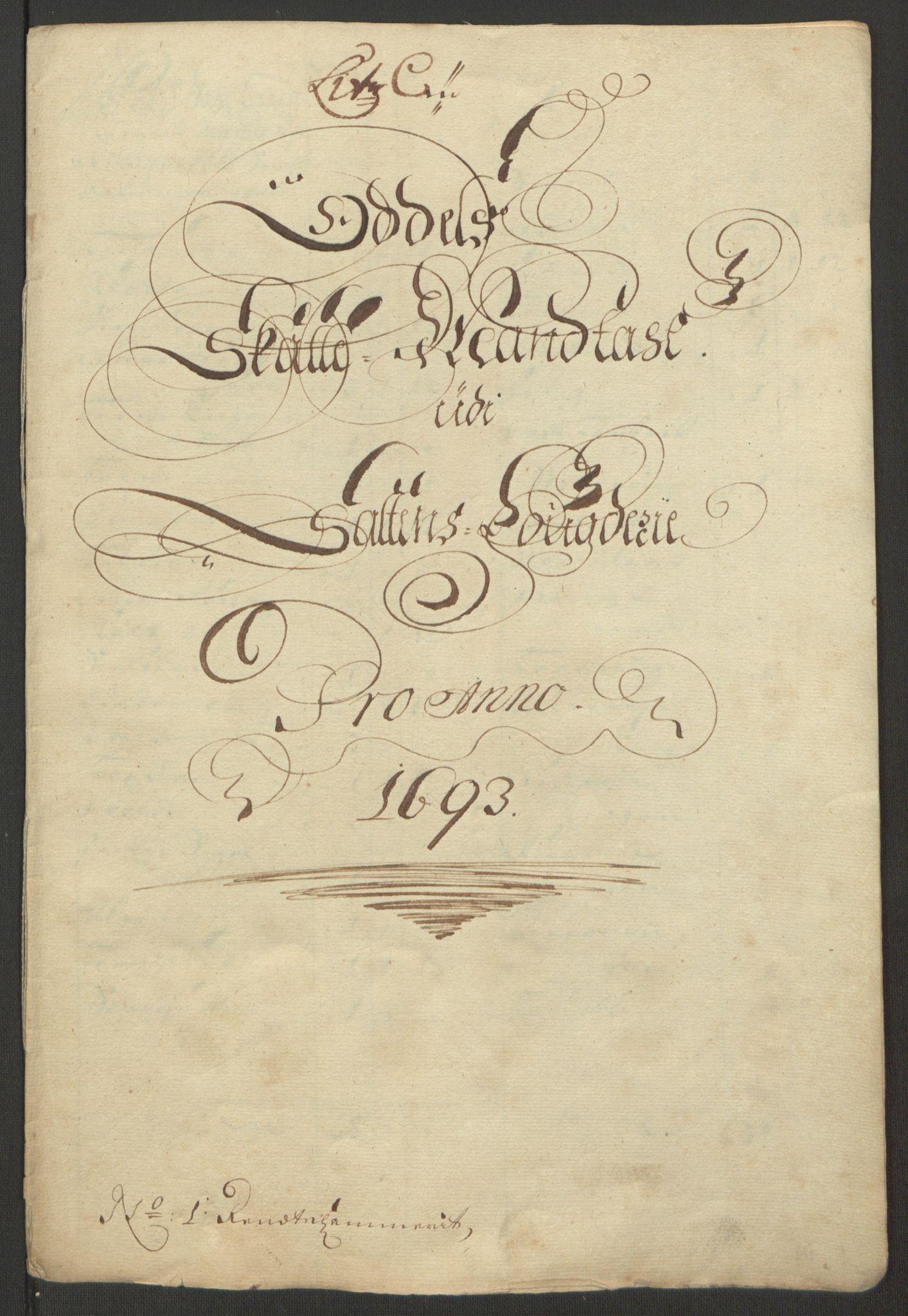 RA, Rentekammeret inntil 1814, Reviderte regnskaper, Fogderegnskap, R66/L4577: Fogderegnskap Salten, 1691-1693, s. 298