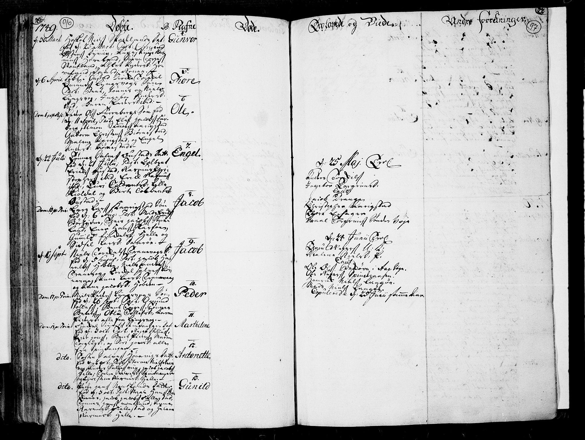 SAK, Lista sokneprestkontor, F/Fa/L0002: Ministerialbok nr. A 2 /3, 1726-1751, s. 96-97