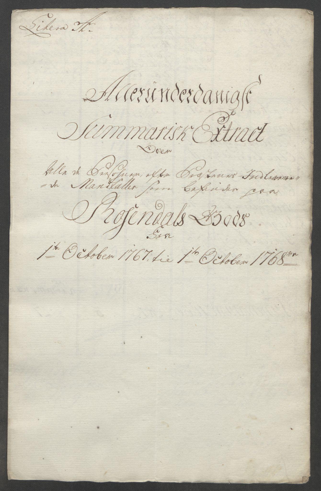 RA, Rentekammeret inntil 1814, Reviderte regnskaper, Fogderegnskap, R49/L3157: Ekstraskatten Rosendal Baroni, 1762-1772, s. 212